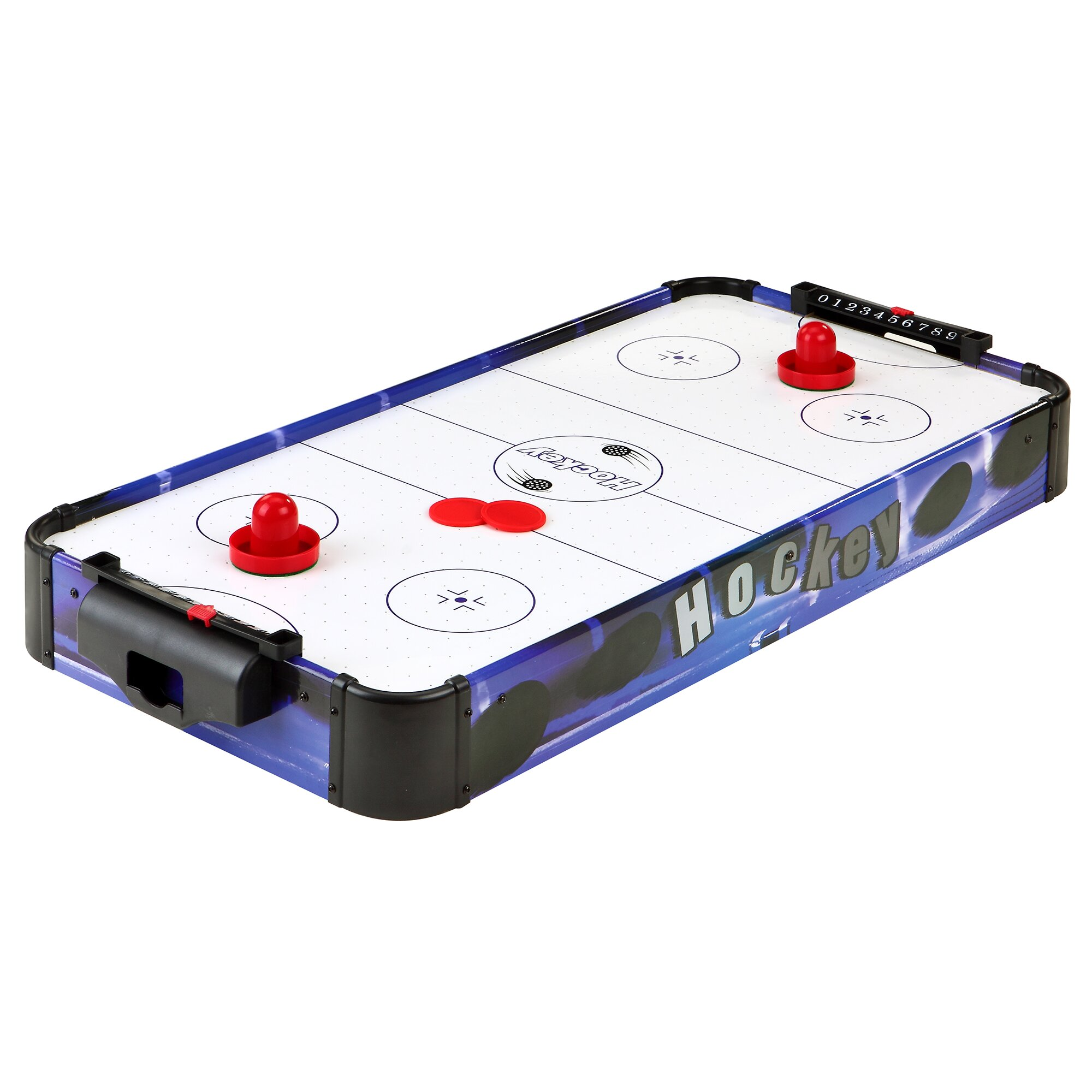 Hathaway games blue line 32 portable table top air hockey for Table hockey