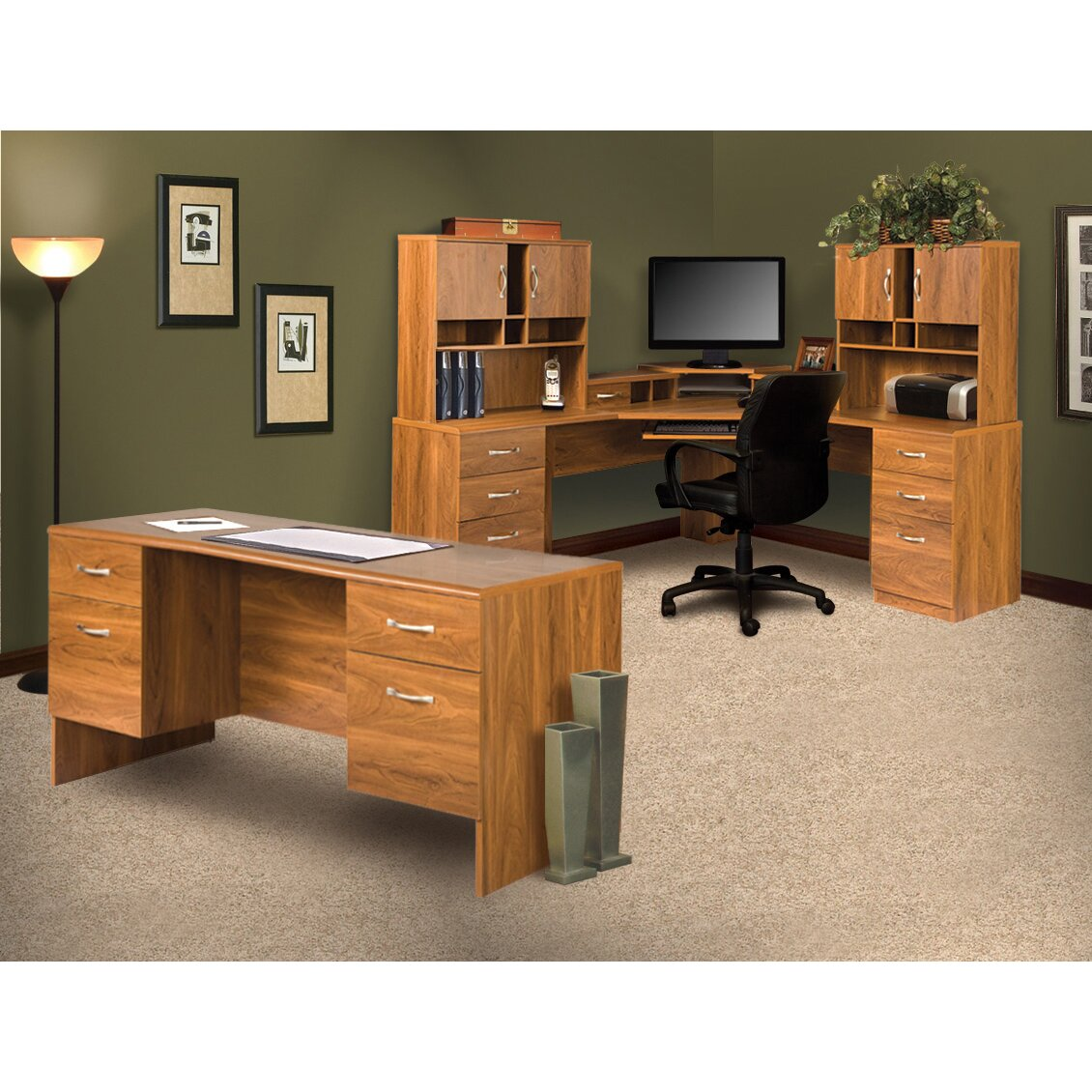 Corner Office Desk Home Laptop Table Workstation Computer: OS Home & Office Furniture Office Adaptations Corner