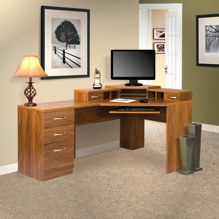 Corner Office Desk Home Laptop Table Workstation Computer: OS Home & Office Furniture Office Adaptations Reversible
