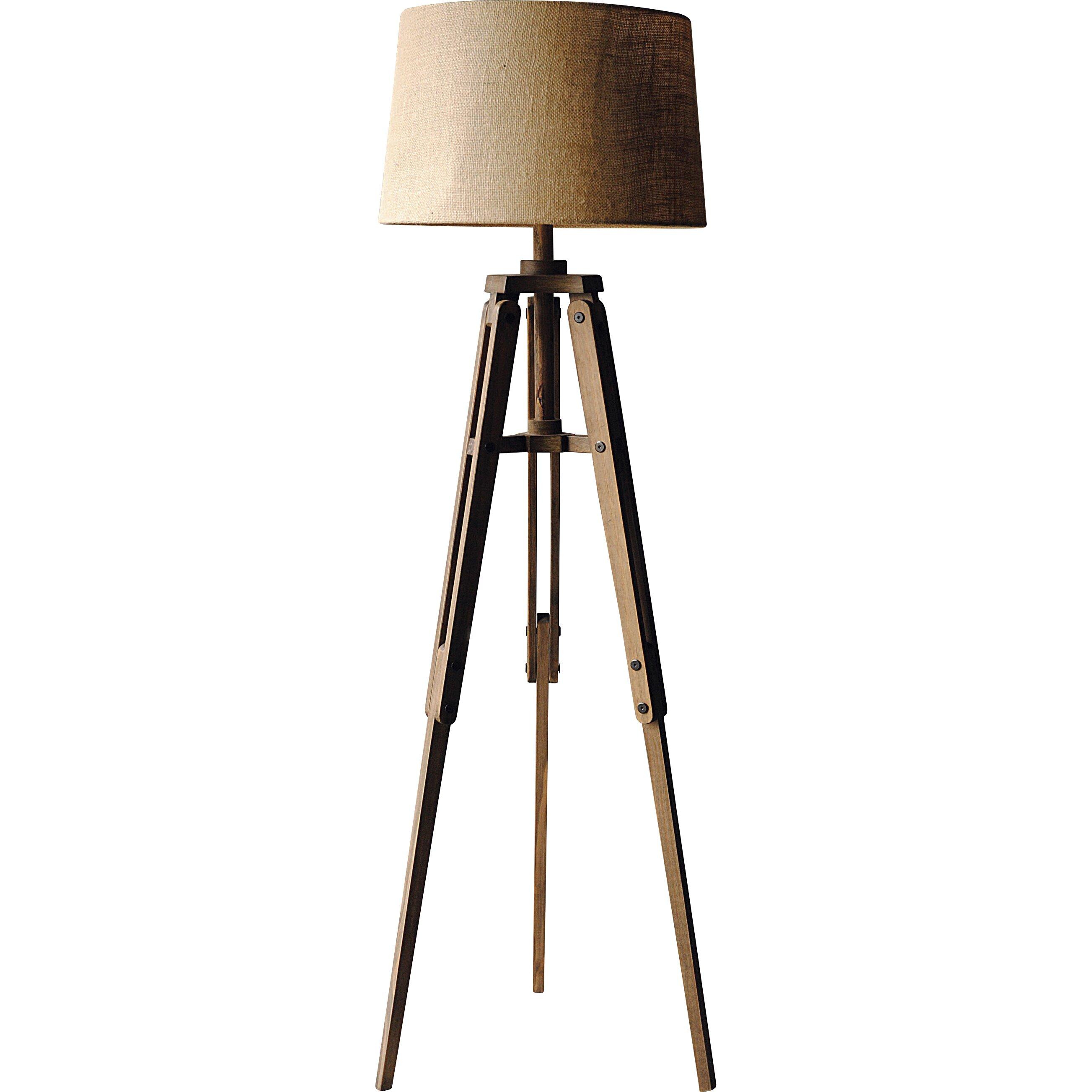 Creative co op turn of the century 6225quot tripod floor for Wayfair wood floor lamp