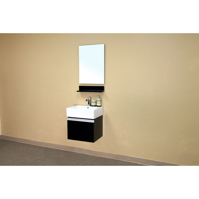 Bellaterra home mason 21 single wall mounted bathroom for Single wall house