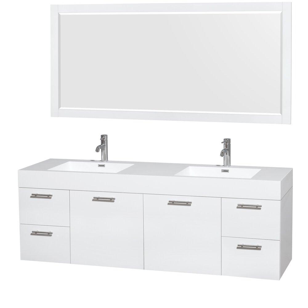 Wyndham Collection Amare 72 Double Bathroom Vanity Set With Mirror Amp