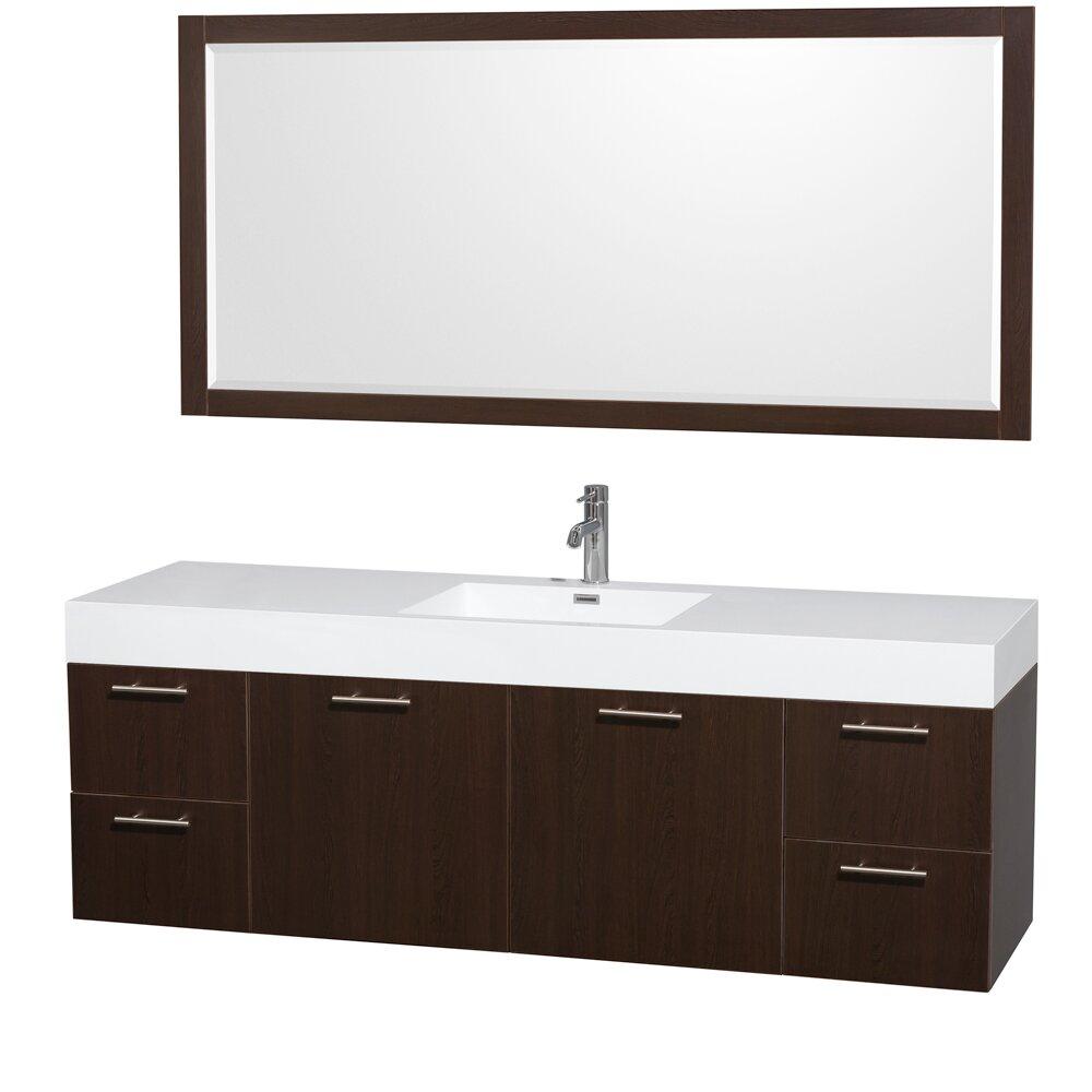 Wyndham Collection Amare 72 Single Bathroom Vanity Set With Mirror Reviews Wayfair