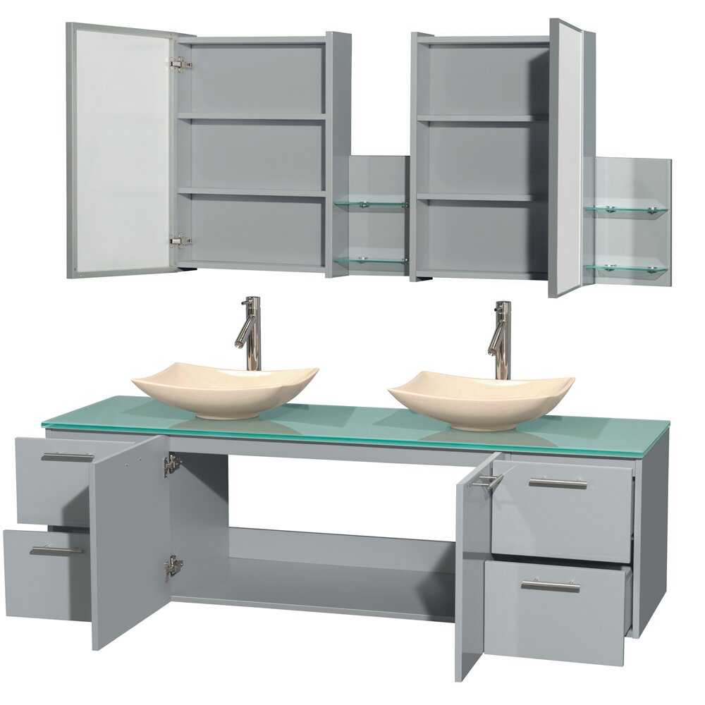 "Wyndham Bathroom Vanities: Wyndham Collection Amare 72"" Double Bathroom Vanity Set"