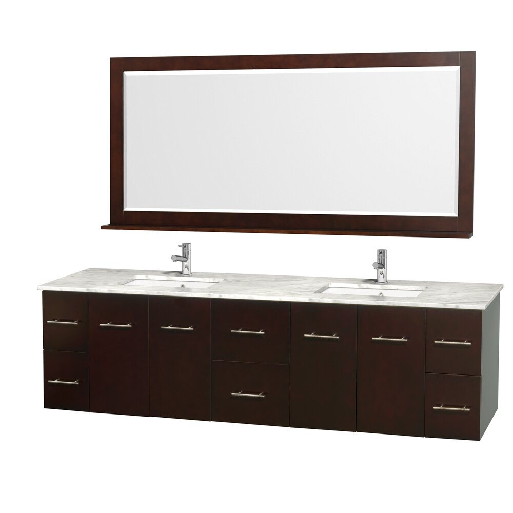 Wyndham collection centra 80 double bathroom vanity base reviews wayfair - Double sink vanity ...