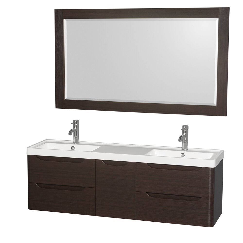 "Wyndham Bathroom Vanities: Wyndham Collection Murano 60"" Double Bathroom Vanity With"
