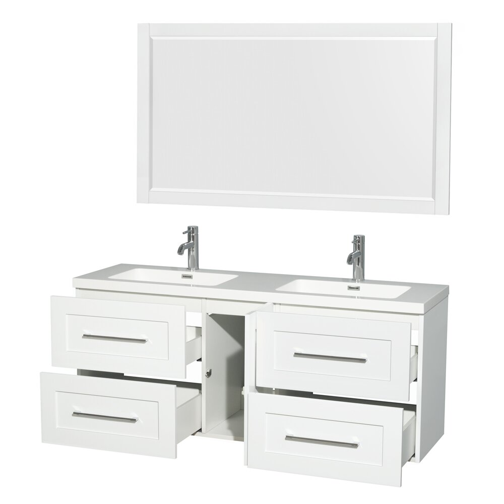 wyndham collection olivia 60 double glossy white bathroom