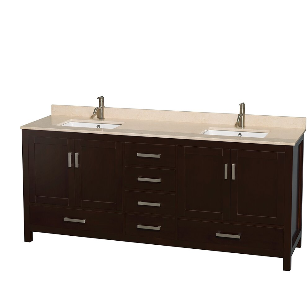 "Wyndham Bathroom Vanities: Wyndham Collection Sheffield 80"" Double Bathroom Vanity"