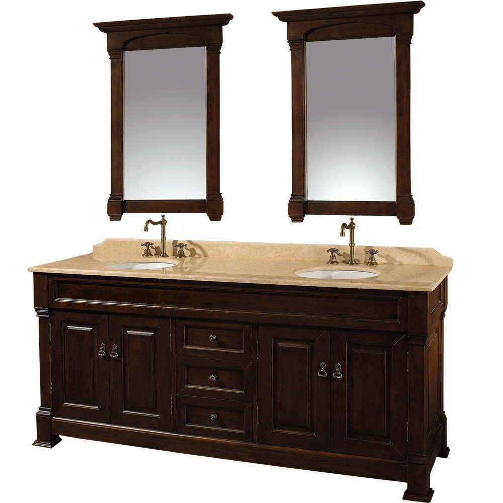 cherry mirrors bathroom wyndham collection andover 72 quot cherry bathroom 12311