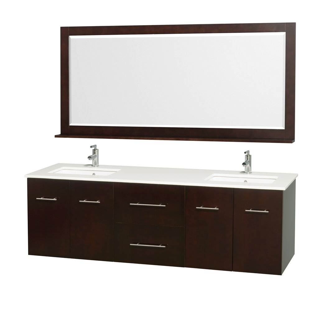 Wyndham collection centra 72 double bathroom vanity set for Bathroom vanity sets
