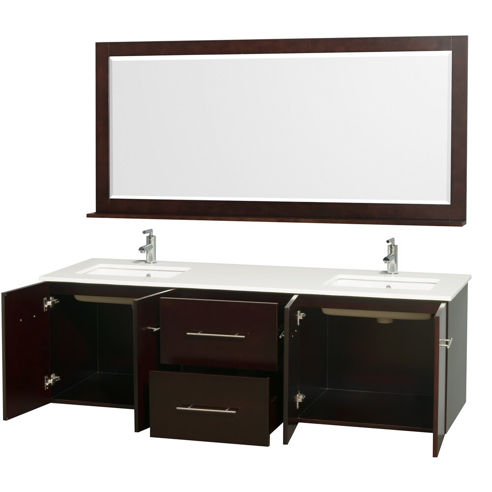 "Wyndham Bathroom Vanities: Wyndham Collection Centra 72"" Double Espresso Bathroom"