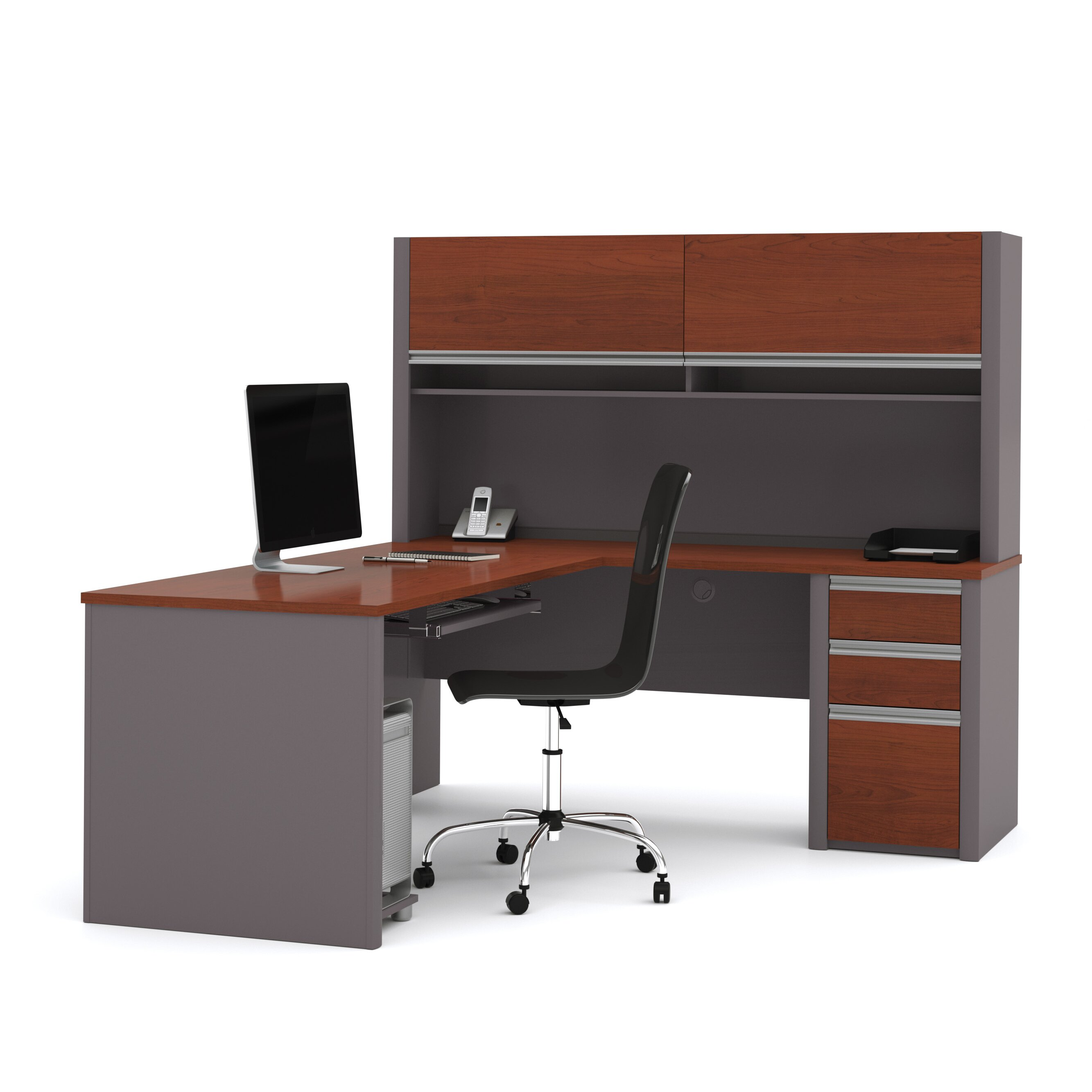 Office max desk with hutch babybluebug s bbb office max deluxe corner desk with hutch office - Office max office desk ...