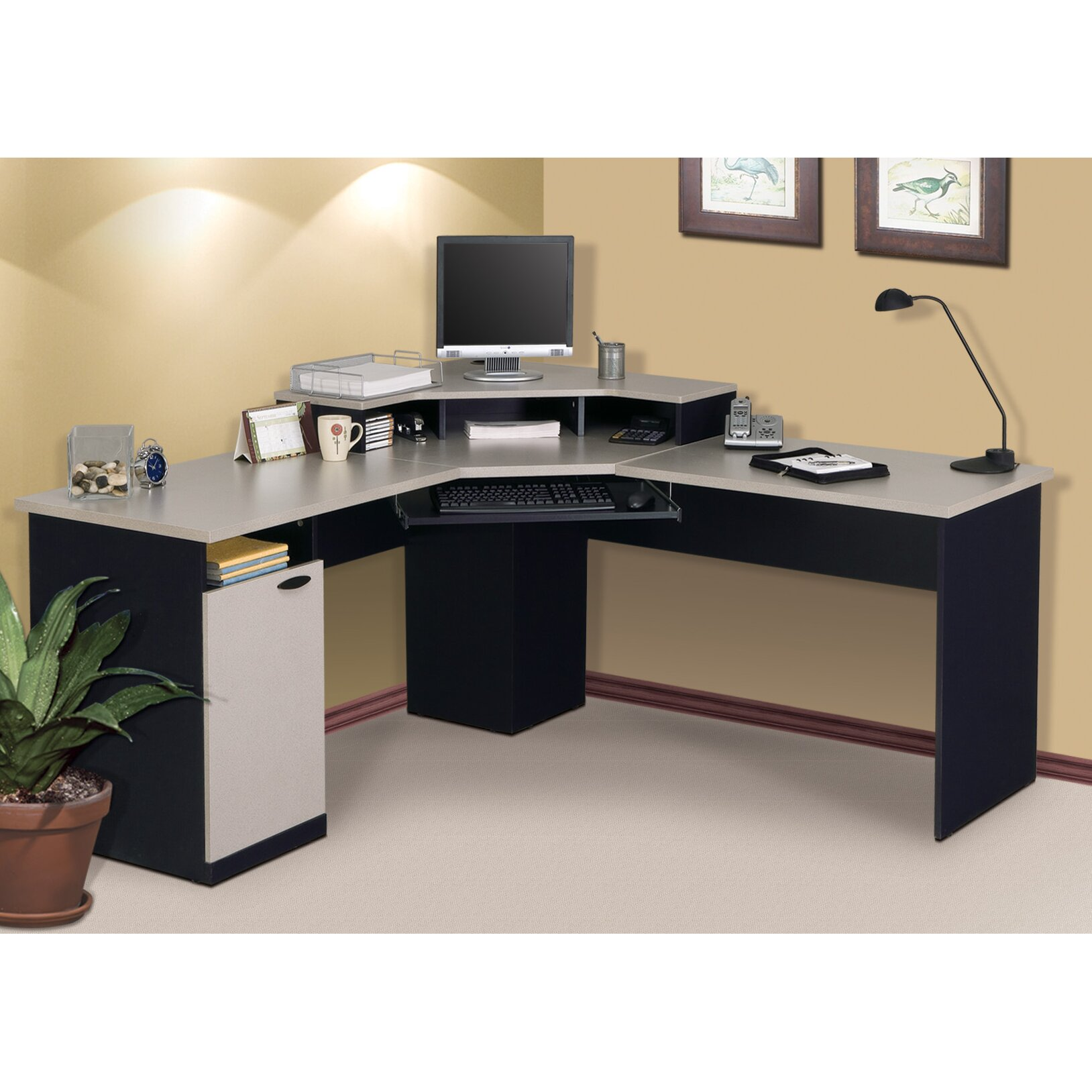 Bestar Hampton Computer Desk Amp Reviews Wayfair