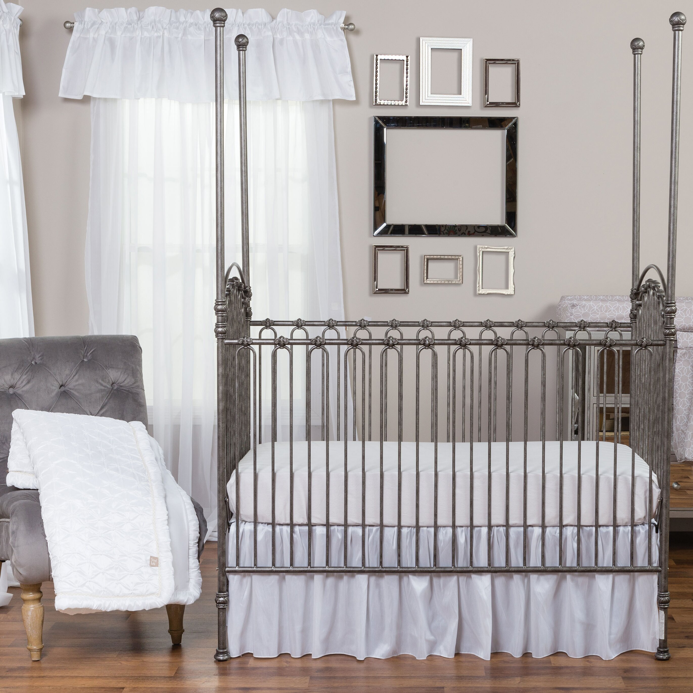Harriet Bee Rollins 3 Piece Crib Bedding Set: Trend Lab Marshmallow 3 Piece Crib Bedding Set & Reviews