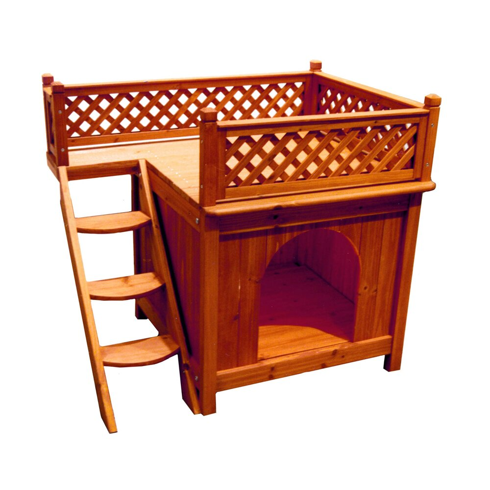 Merry products silvia dog house reviews wayfair for Dog room furniture