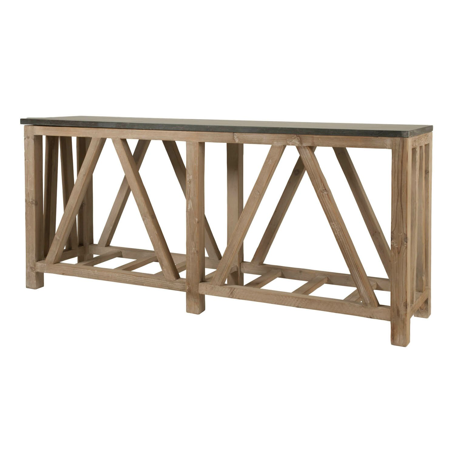 Orient Express Furniture Blue Stone Console Table