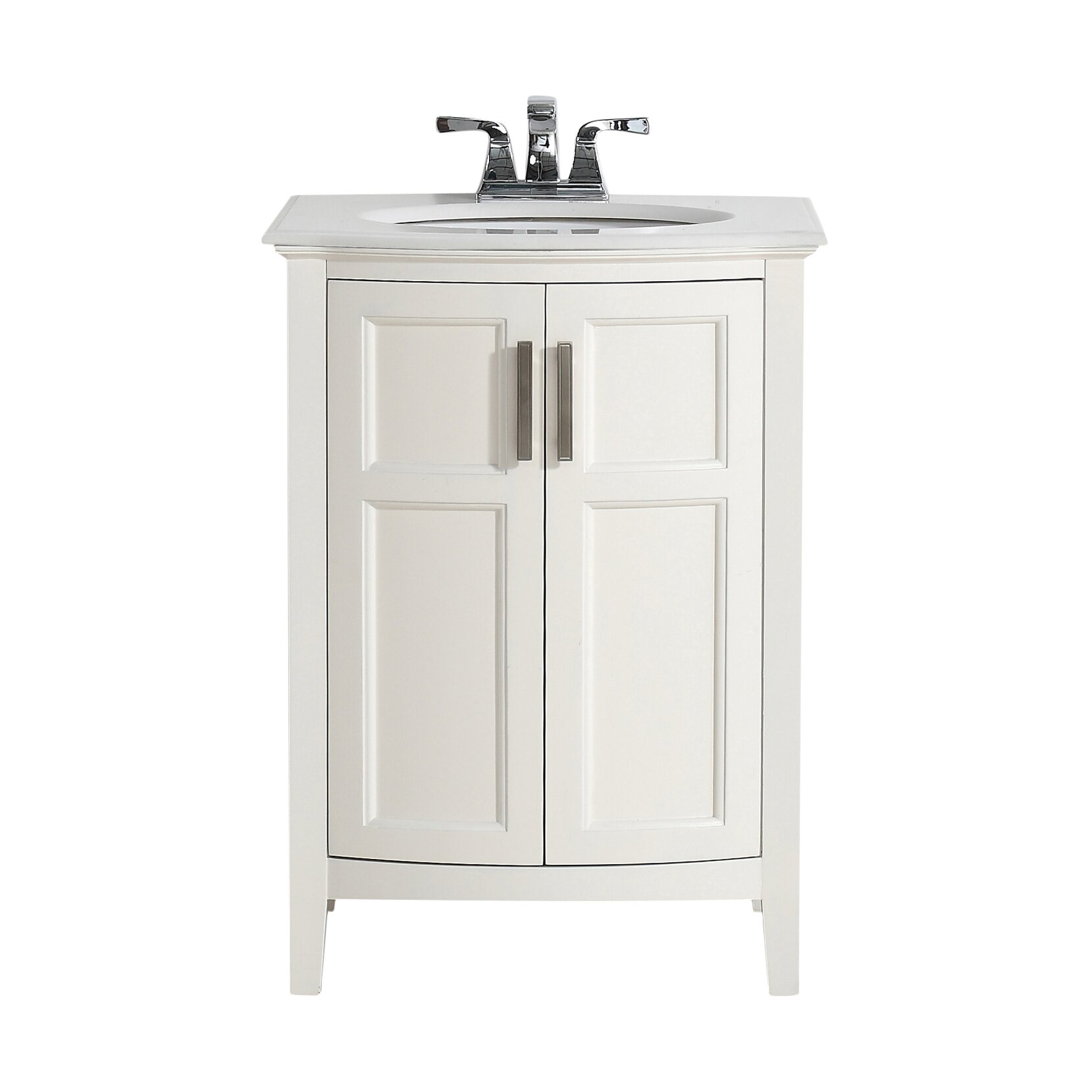 """Simpli Home Winston 25"""" Single Rounded Front Bathroom"""
