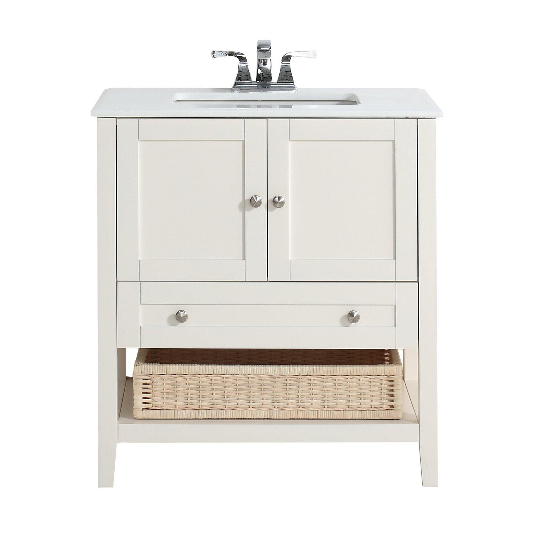 Simpli Home Cape Cod 31 Quot Single Bathroom Vanity Set