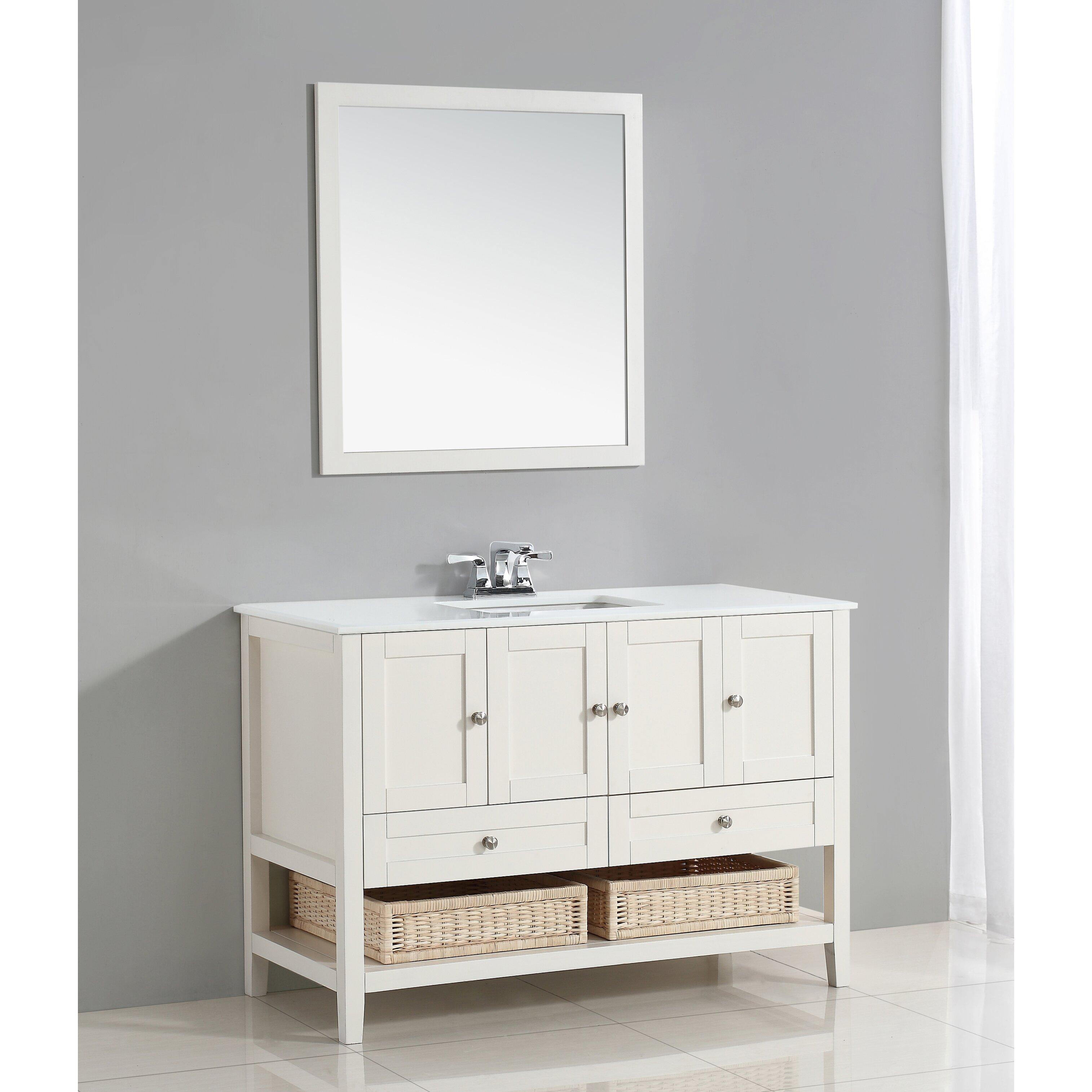 Simpli Home Cape Cod 49 Quot Single Bathroom Vanity Set