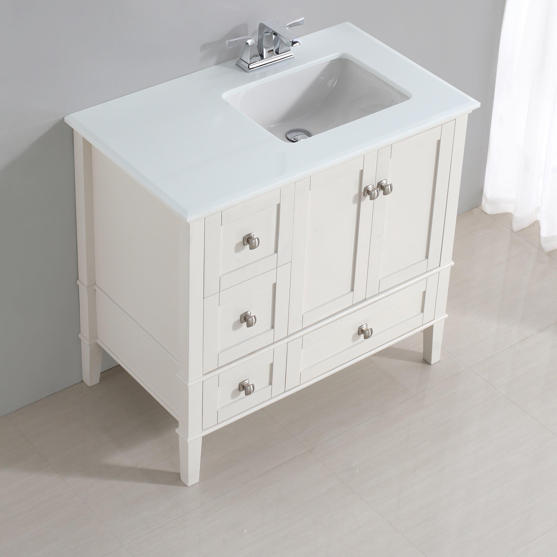 Bathroom vanity with offset