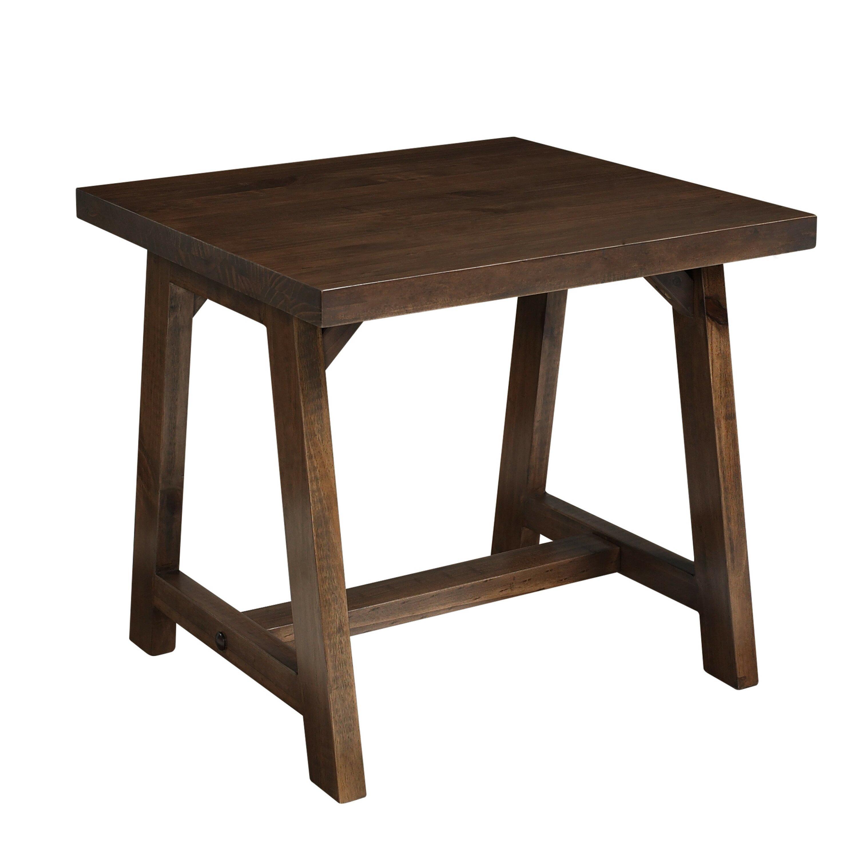 Simpli Home Sawhorse End Table Reviews Wayfair