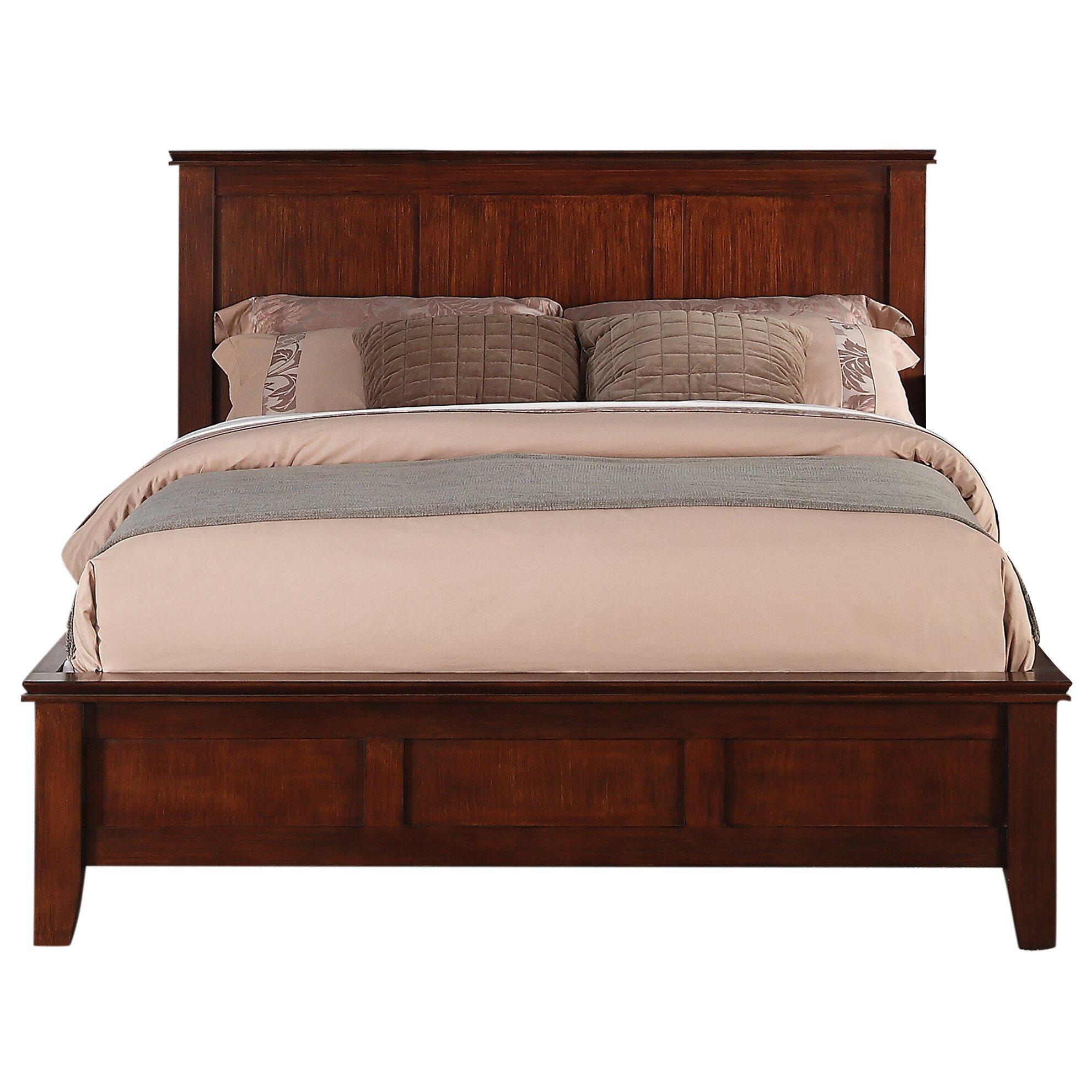 simpli home queen platform bed wayfair. Black Bedroom Furniture Sets. Home Design Ideas
