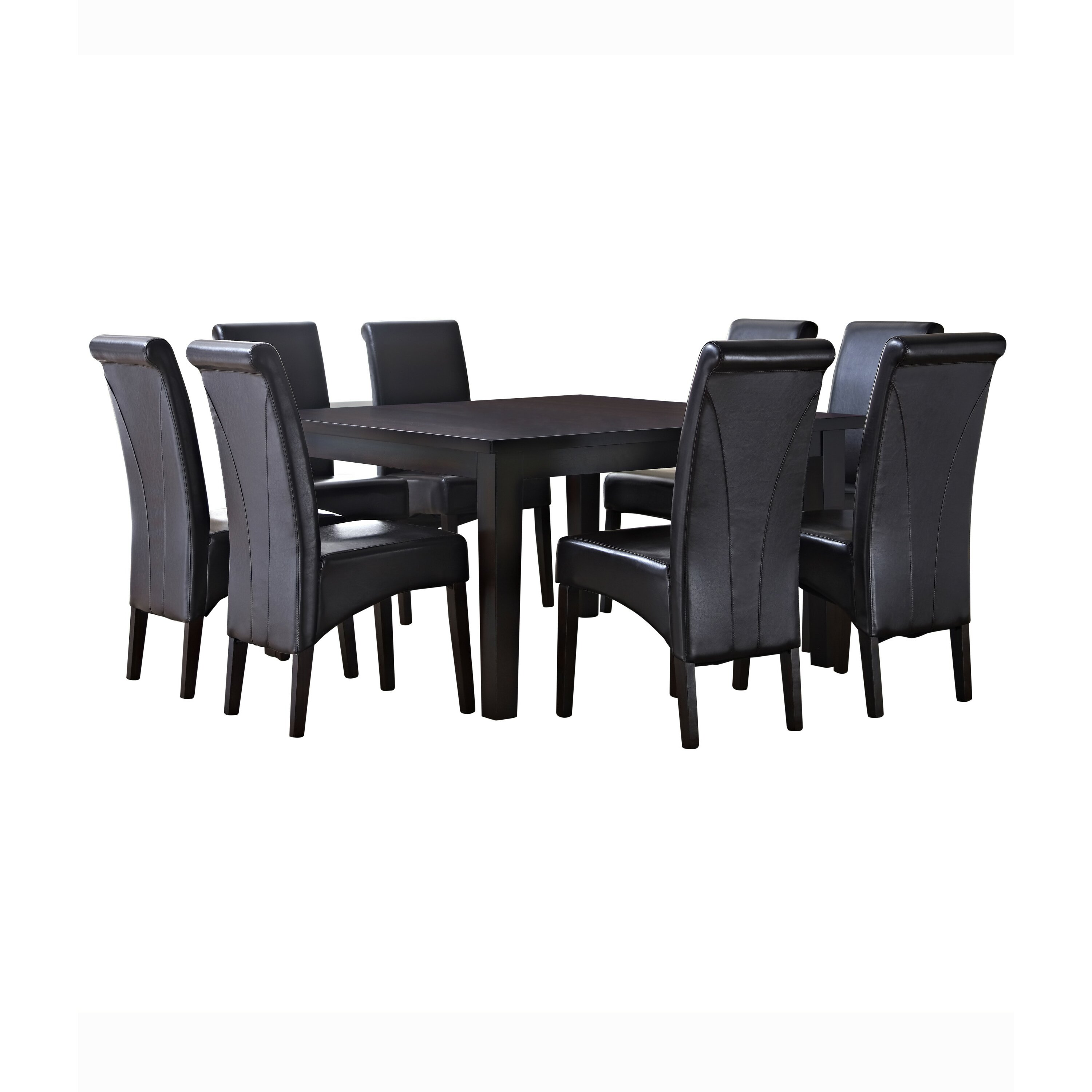 Simpli home avalon 9 piece dining set wayfair for 9 piece dining room furniture