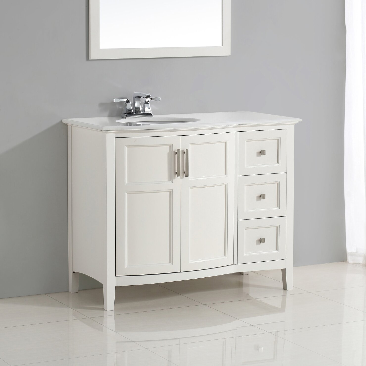 Vanity Front View : Simpli home winston quot single rounded front bath vanity