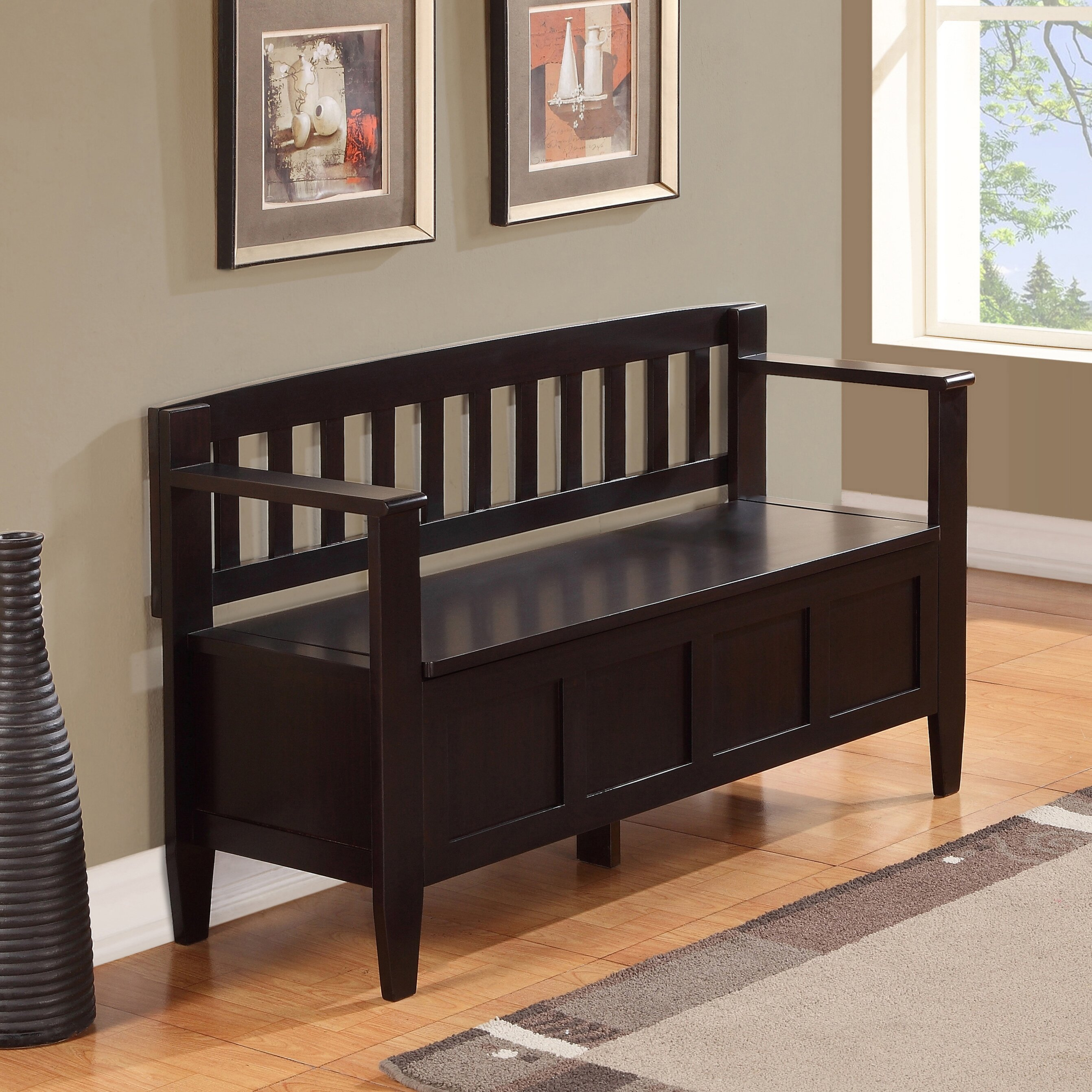 Foyer And Entryways Reviews : Simpli home brooklyn entryway storage bench reviews