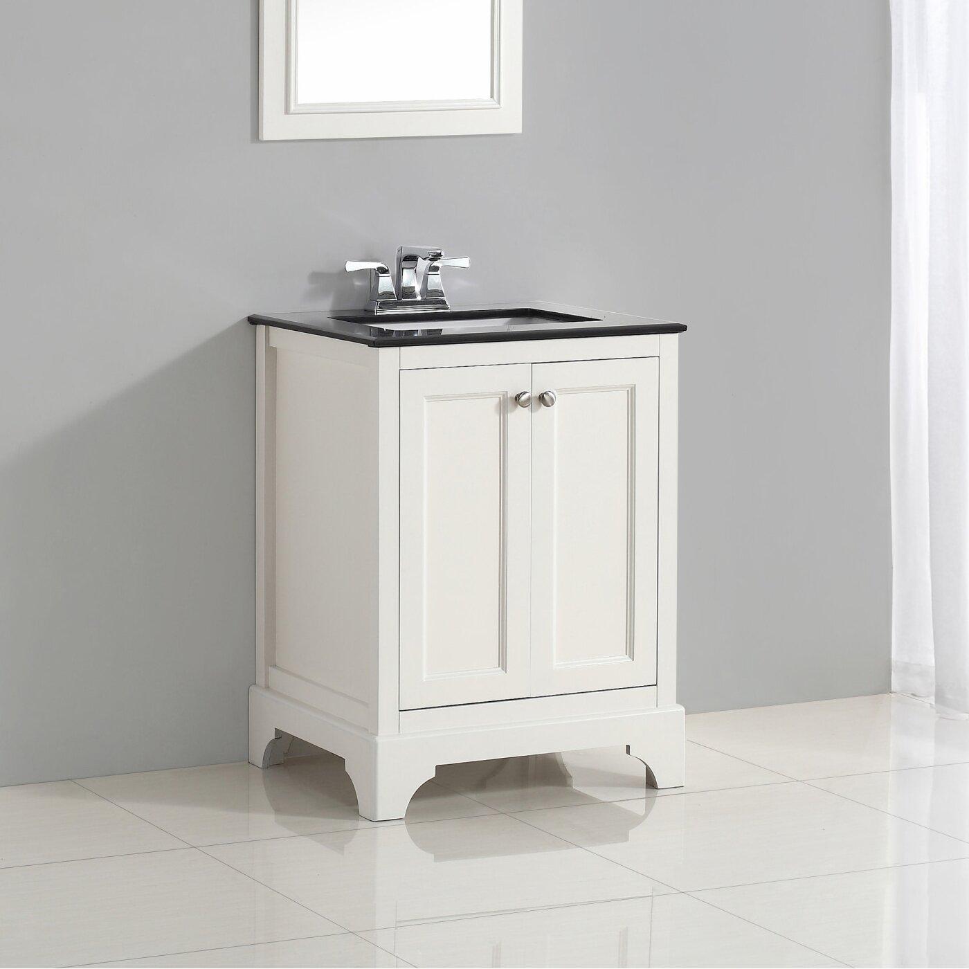 "Simpli Home Cambridge 25"" Single Bathroom Vanity Set & Reviews"