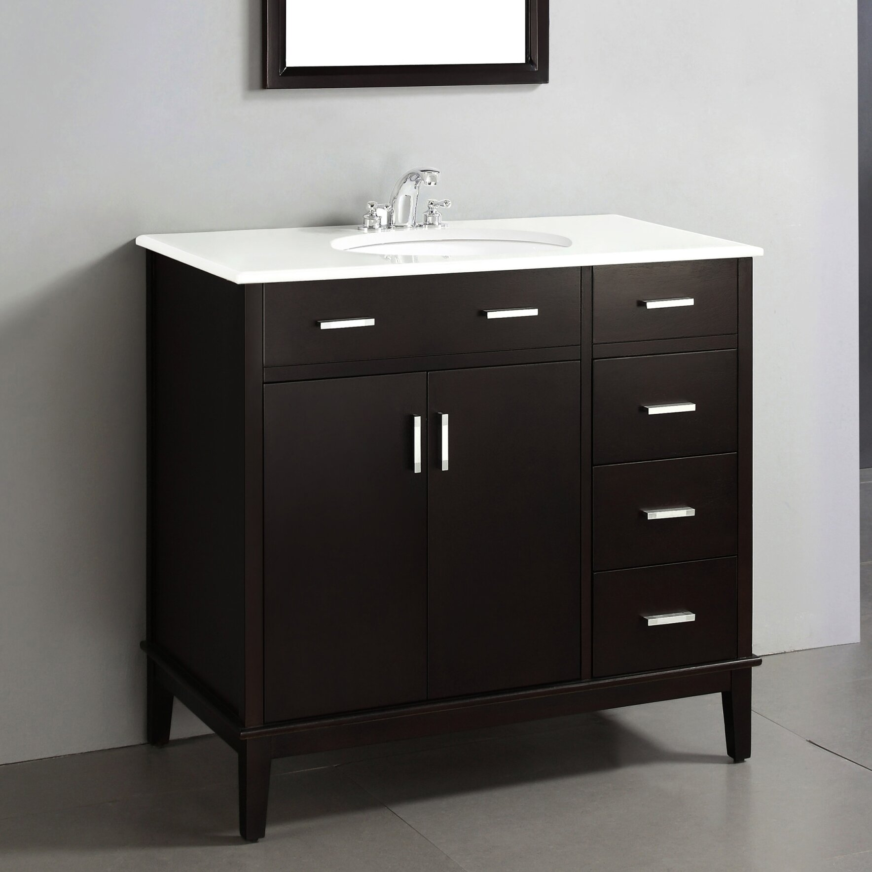 "Simpli Home Urban Loft 36"" Single Bathroom Vanity Set & Reviews"