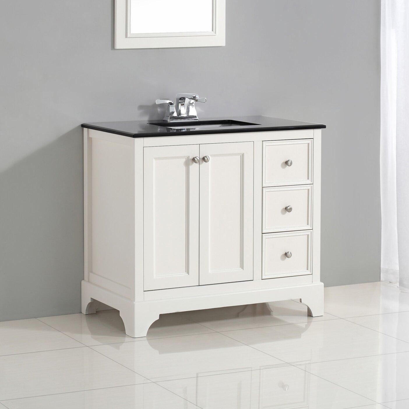 Simpli home cambridge 37 single bath vanity set reviews for Bath and vanity set