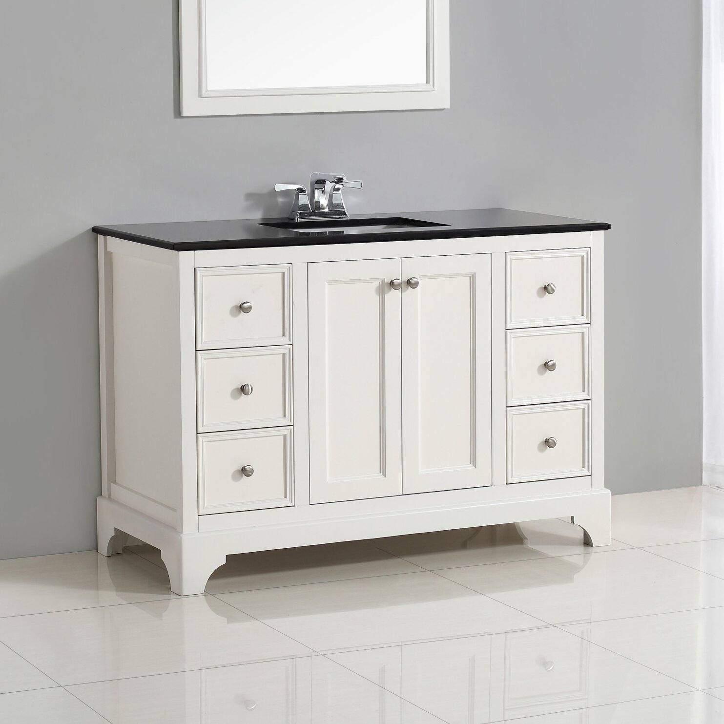 Simpli home cambridge 49 single bath vanity set reviews for Bath and vanity set