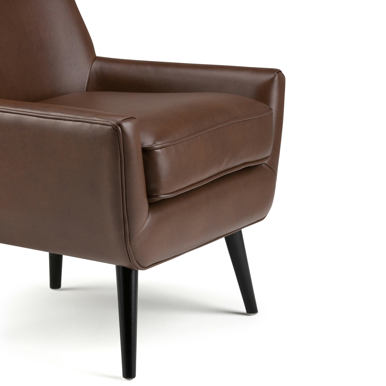 simpli home warhol mid century side chair reviews wayfair. Black Bedroom Furniture Sets. Home Design Ideas