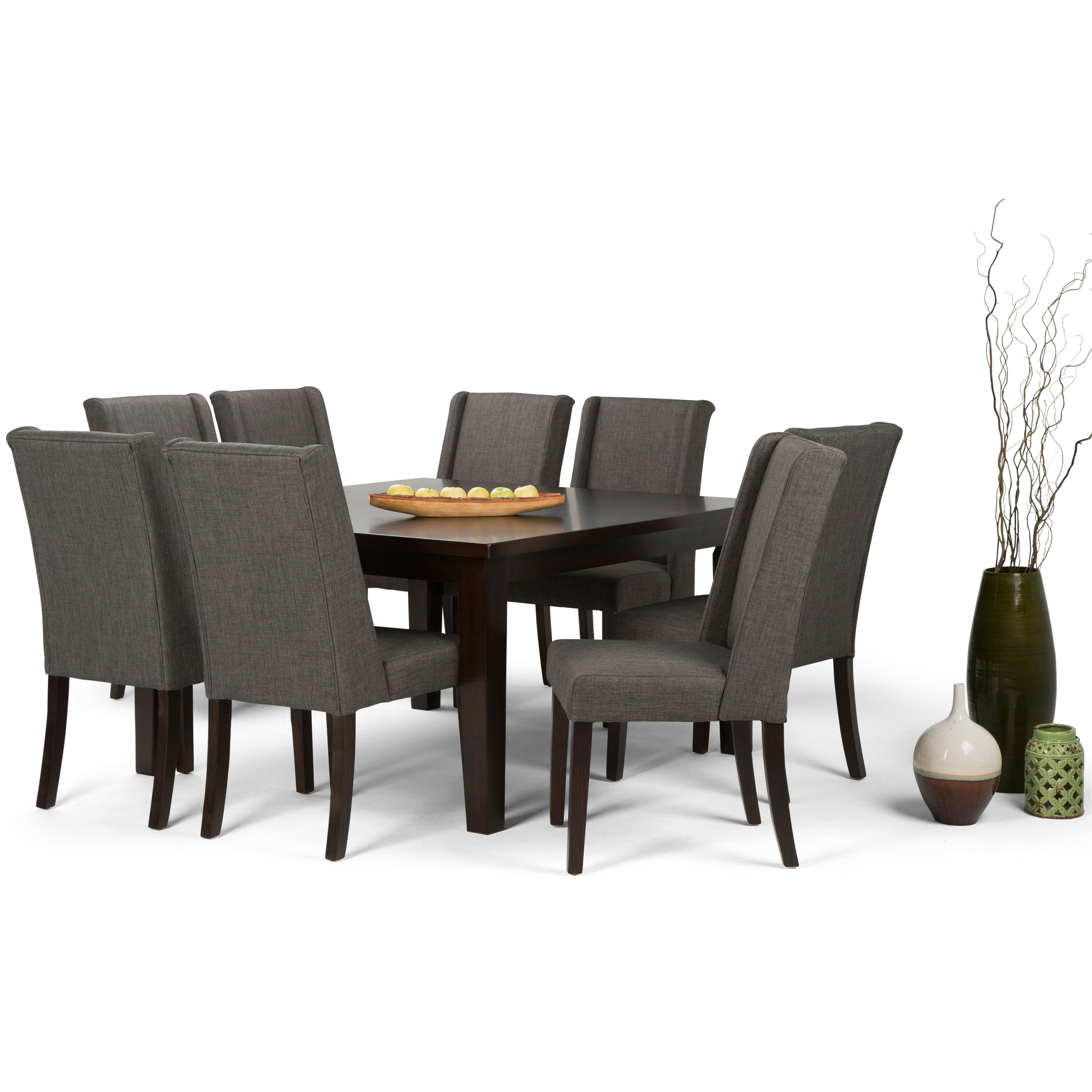Simpli home sotherby 9 piece dining set wayfair for Dining room tables 9 piece