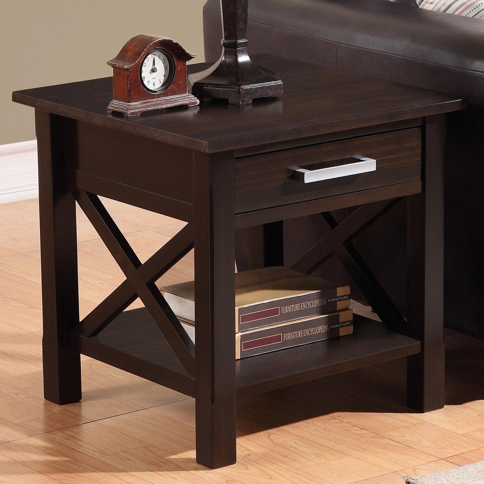 simpli home kitchener end table amp reviews wayfair