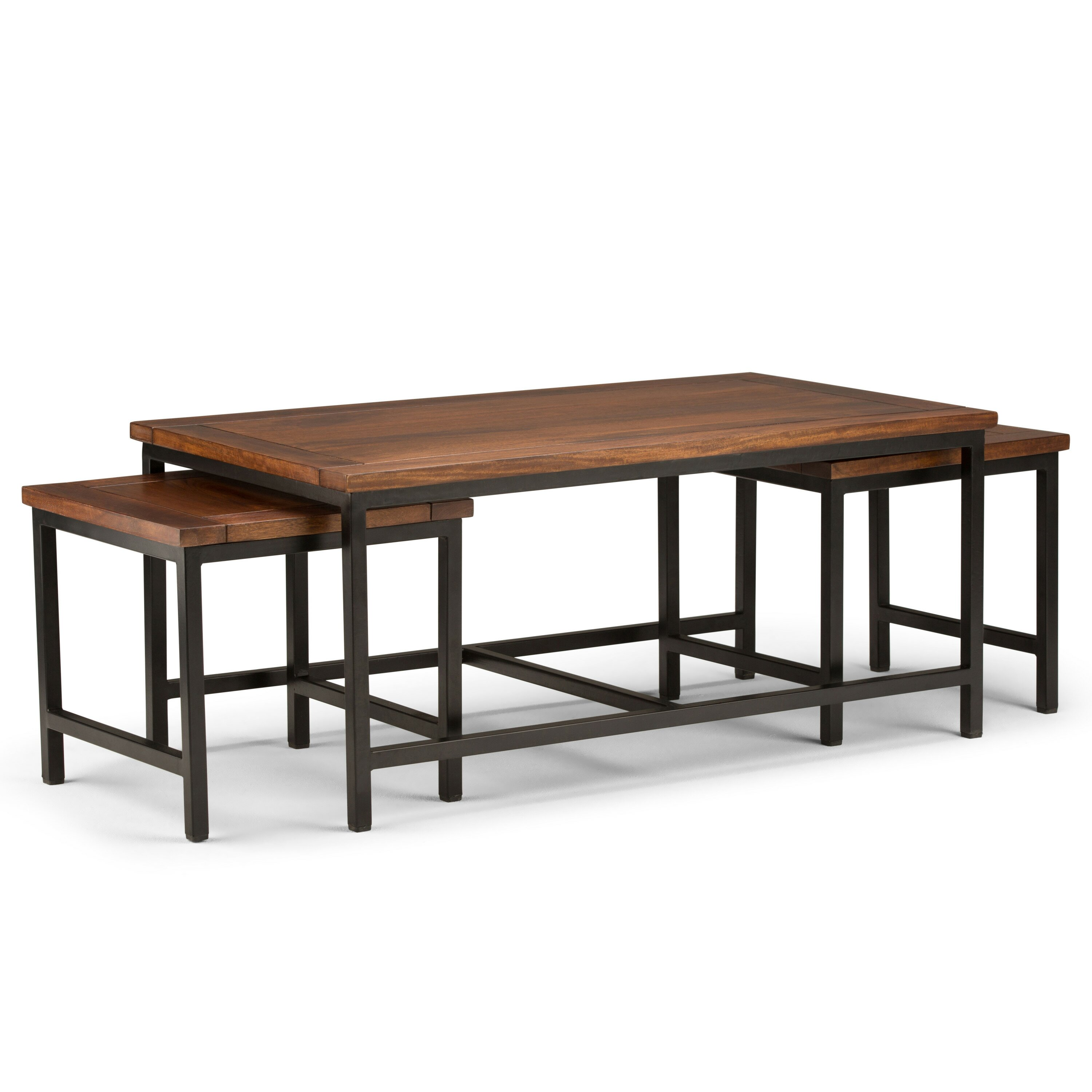 Simpli Home Skyler Nesting 44 Quot 3 Piece Coffee Table Wayfair