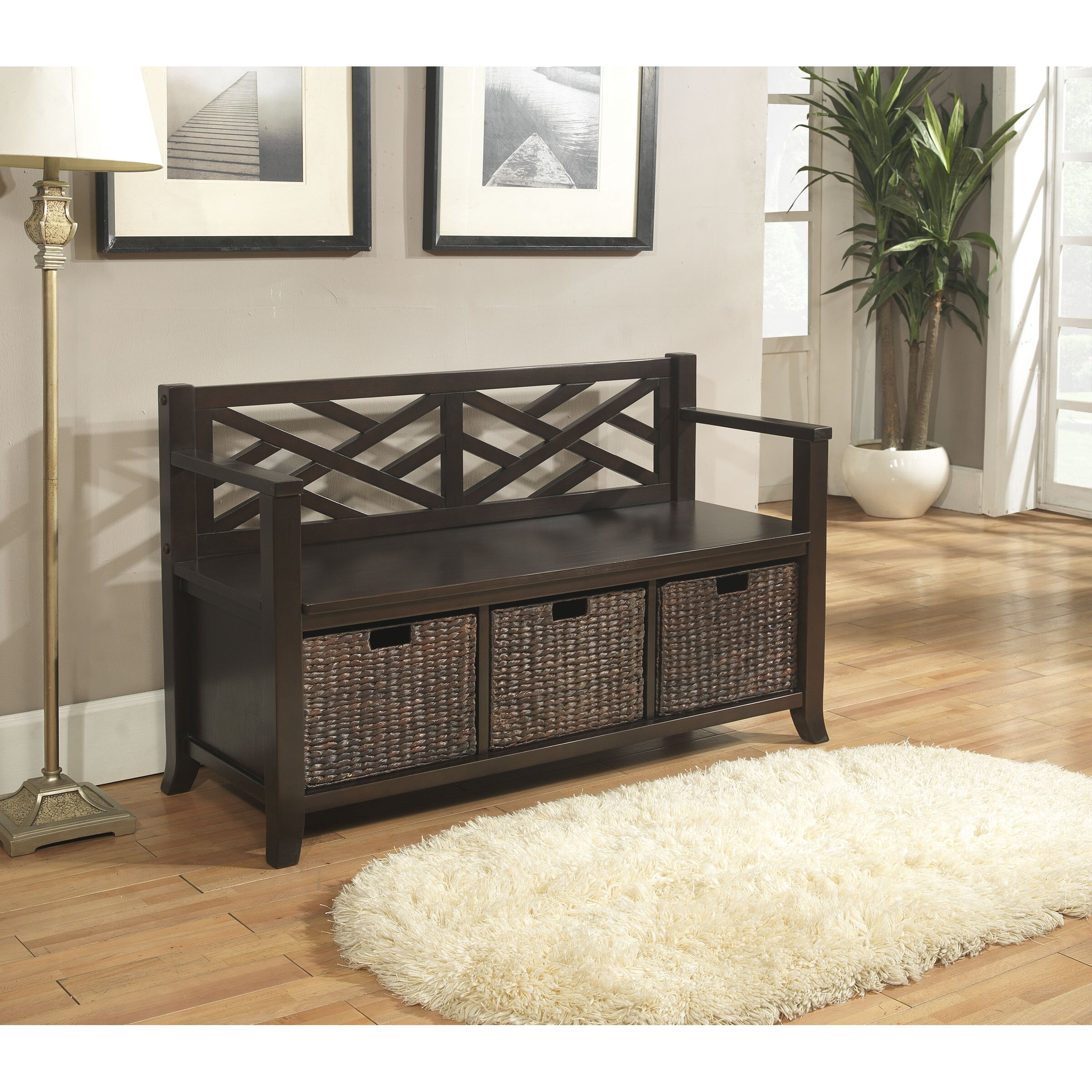Simpli Home Adrien Entryway Storage Bench Reviews Wayfair