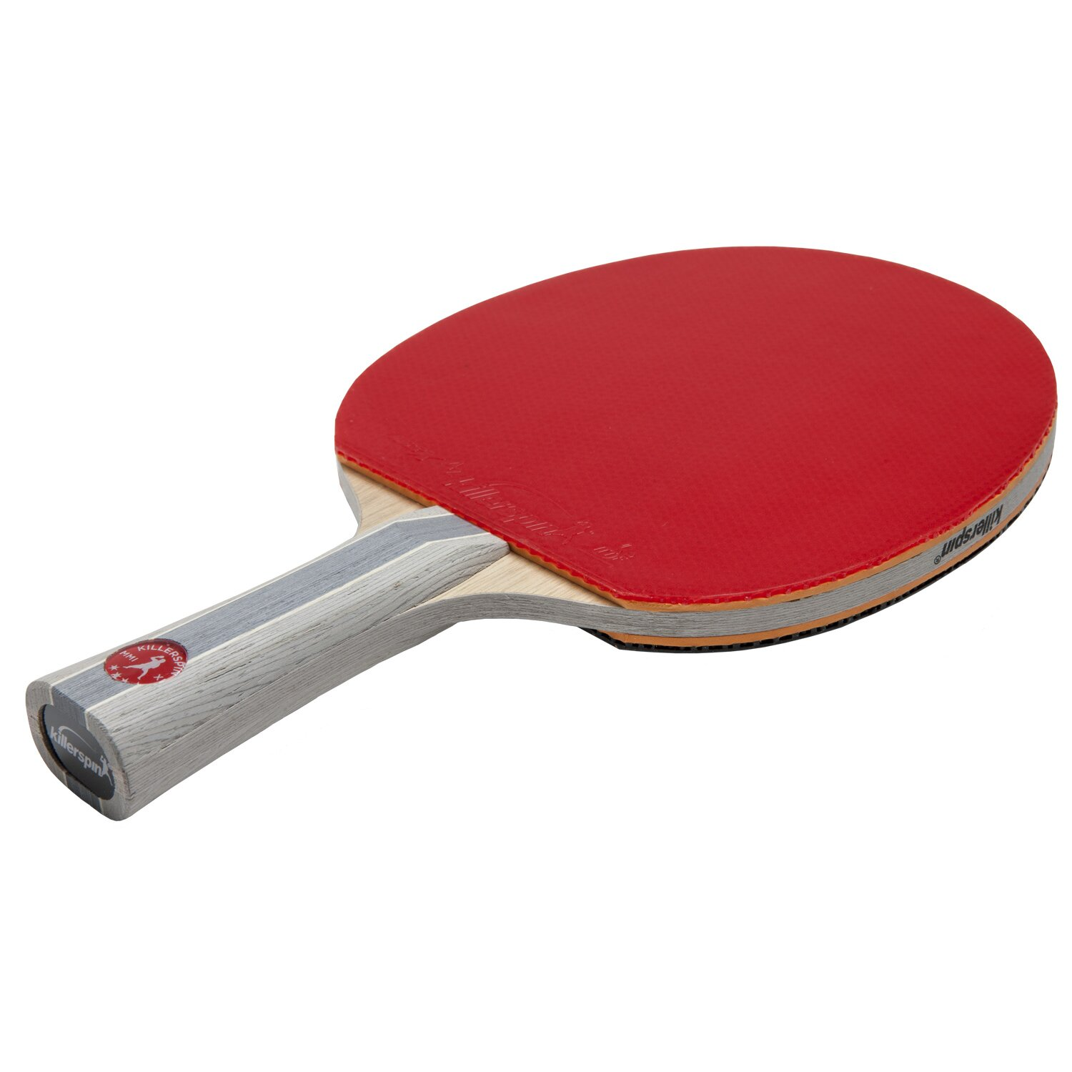 Superb img of Killerspin Jet 700 Wood 7 Layer Table Tennis Racket with Flared Handle  with #A7242C color and 1500x1500 pixels
