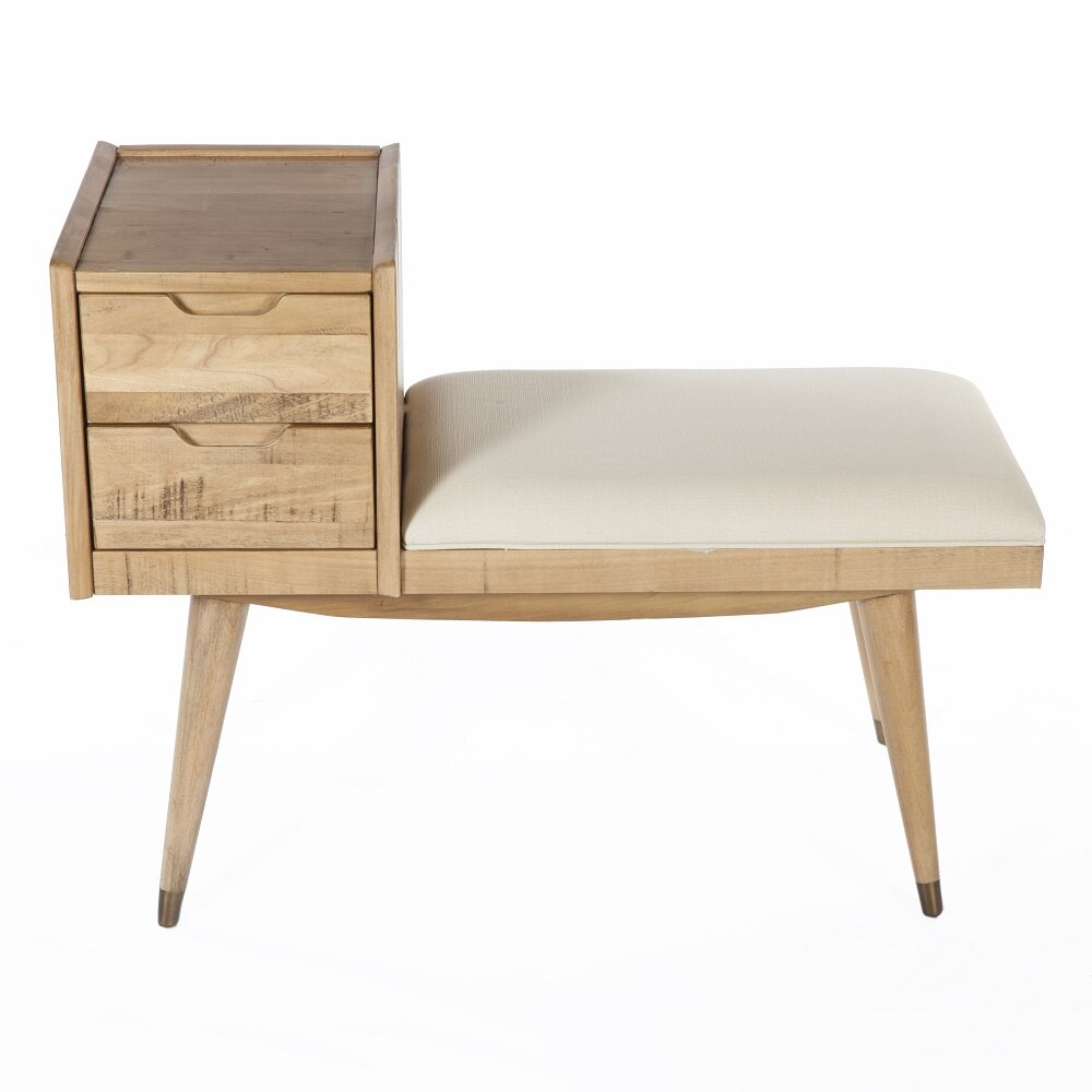 Control Brand Upholstered Storage Entry Bench Wayfair