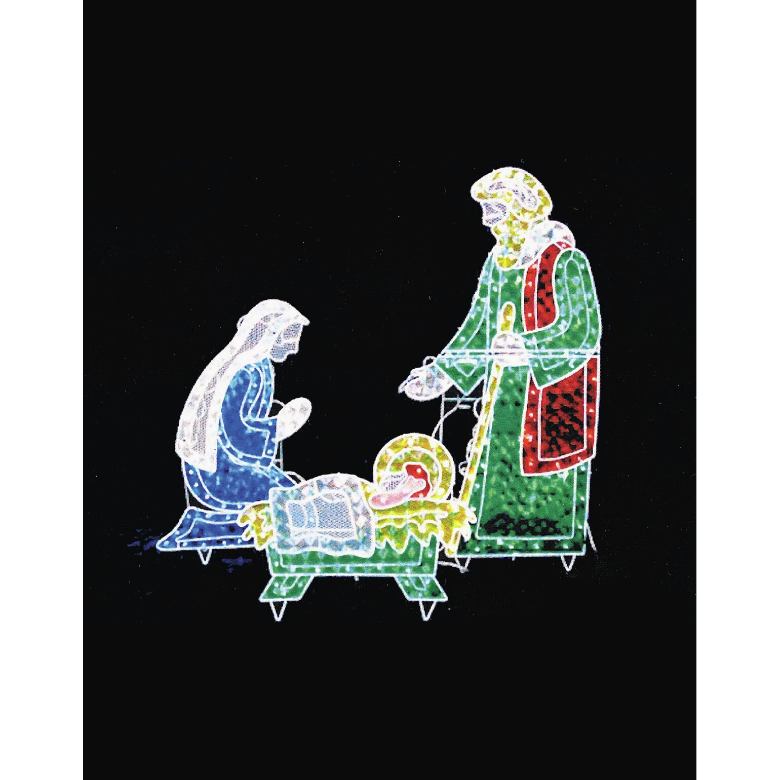 Lb International Holograph Nativity Frame Christmas