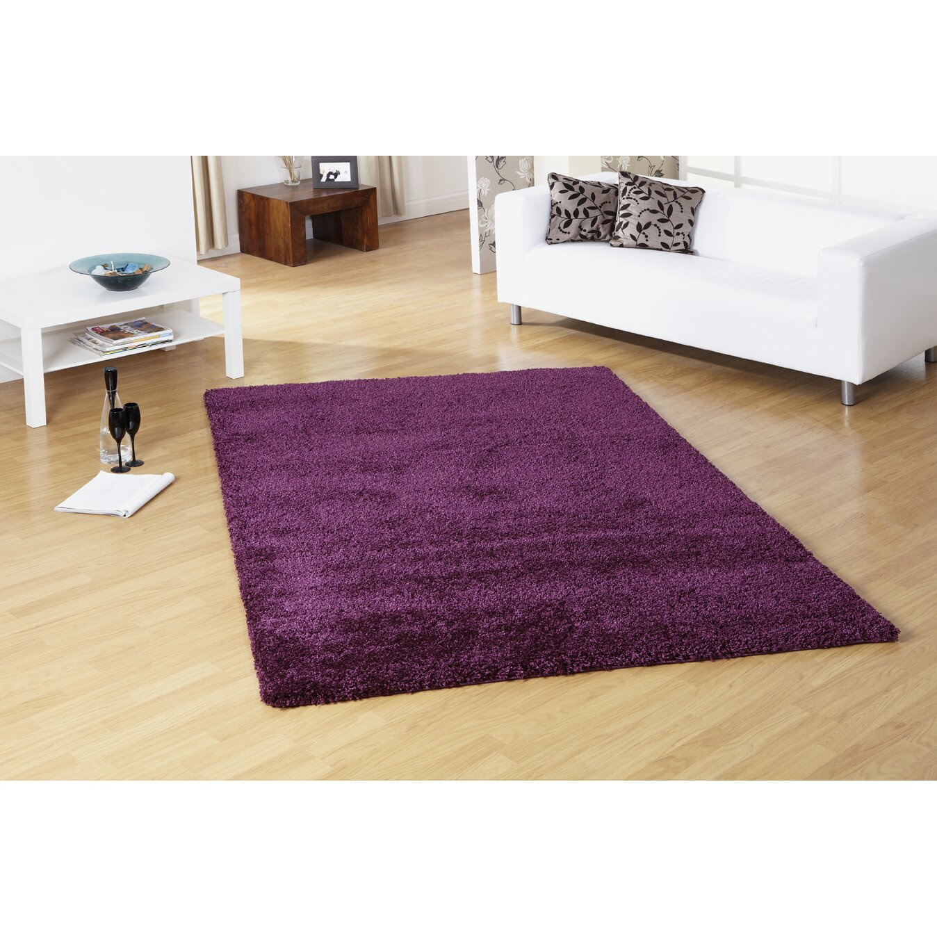 Ultimate Rug Co Lifestyle Plain Aubergine Rug & Reviews