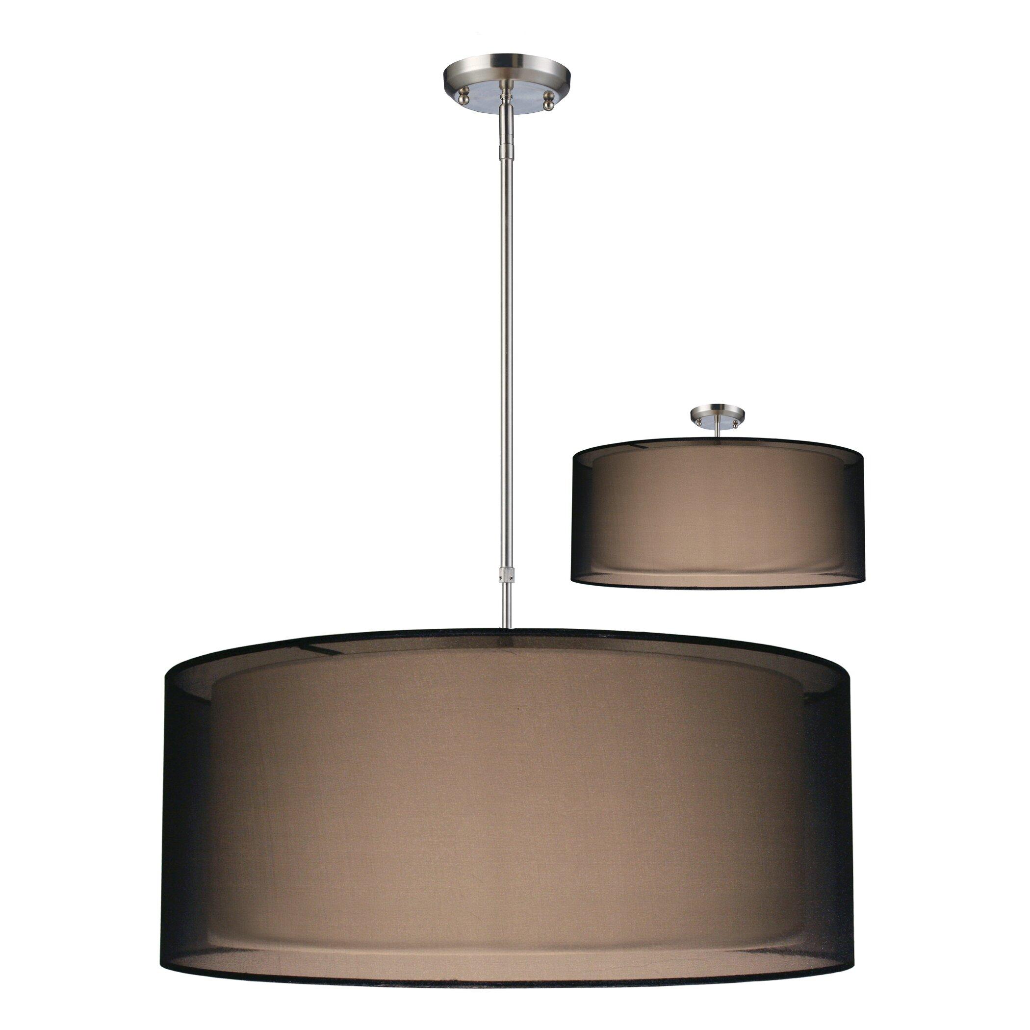 Foyer Drum Lighting : Z lite nikko light drum foyer pendant reviews wayfair