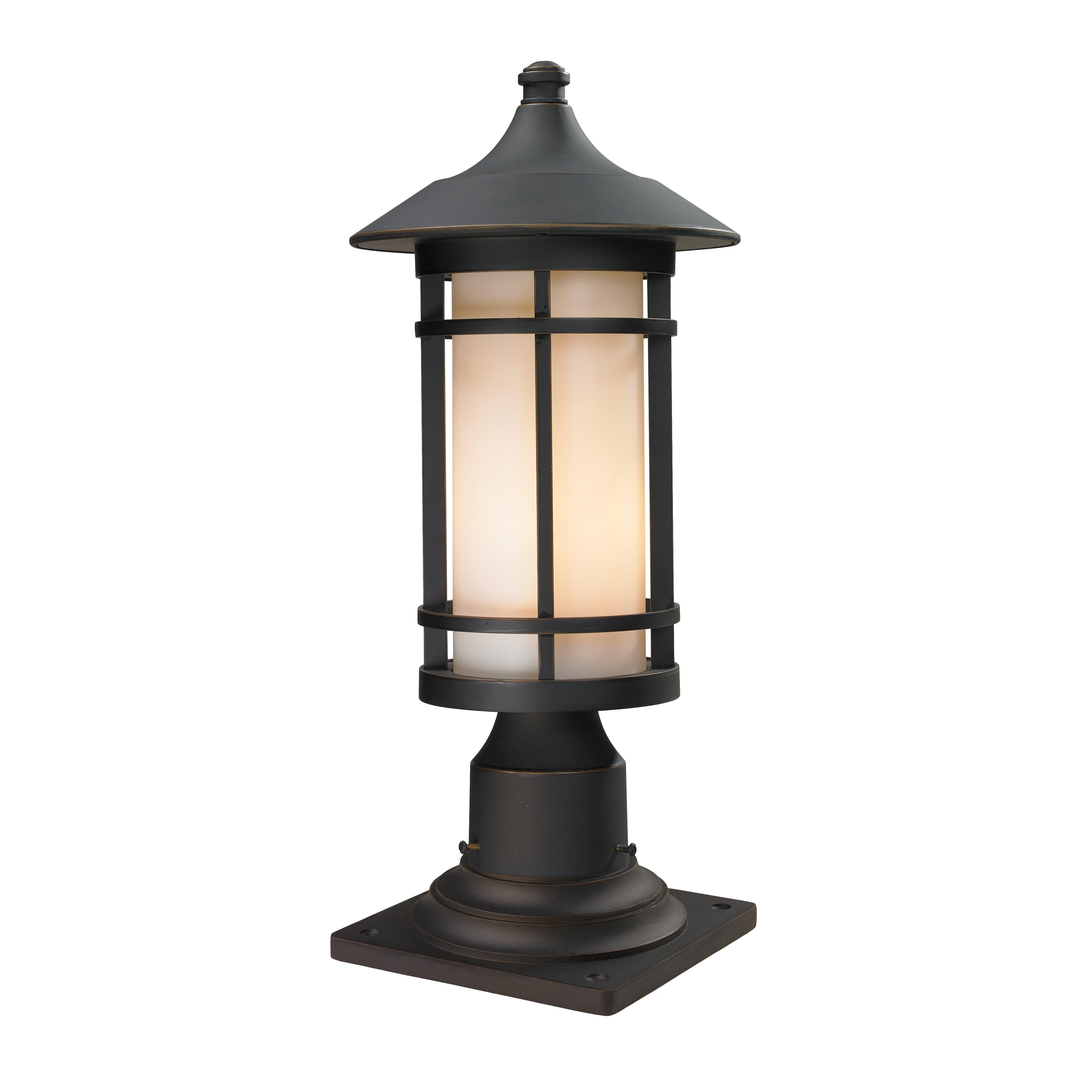 z lite woodland 1 light outdoor pier mount light reviews. Black Bedroom Furniture Sets. Home Design Ideas