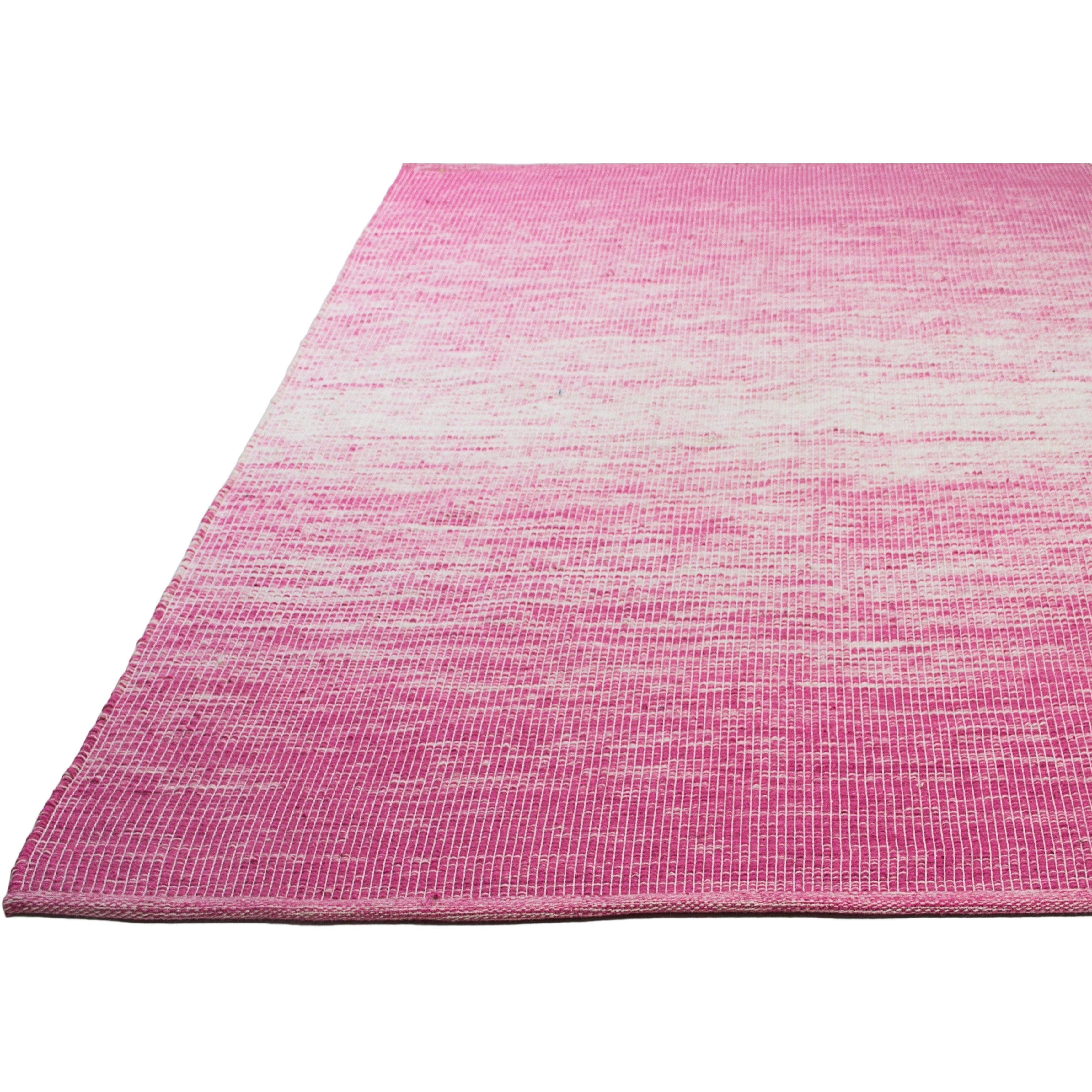 Fab rugs estate hand woven pink indoor outdoor area rug for Landscape indoor area rug