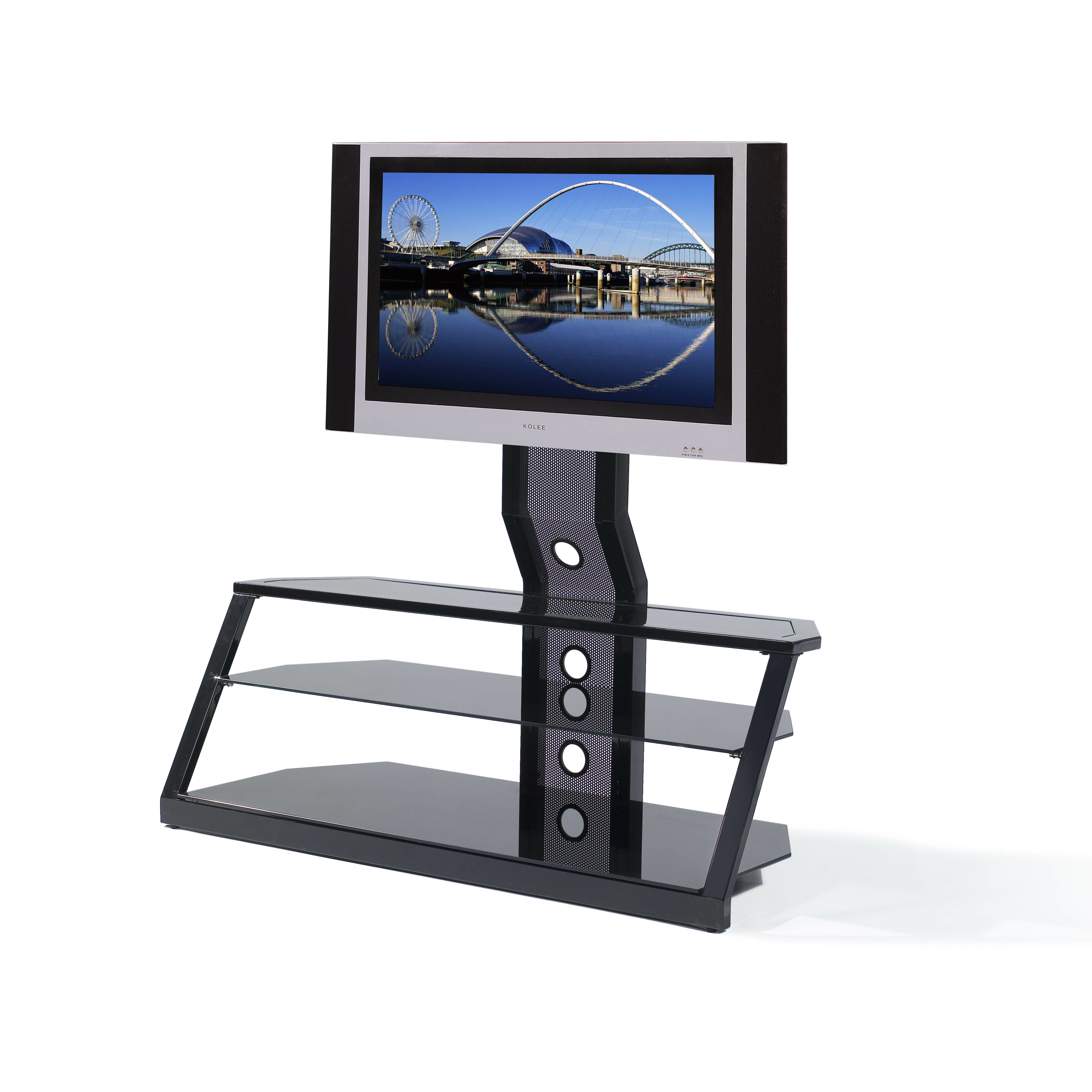 ready set mount cordoba universal tv stand reviews wayfair. Black Bedroom Furniture Sets. Home Design Ideas