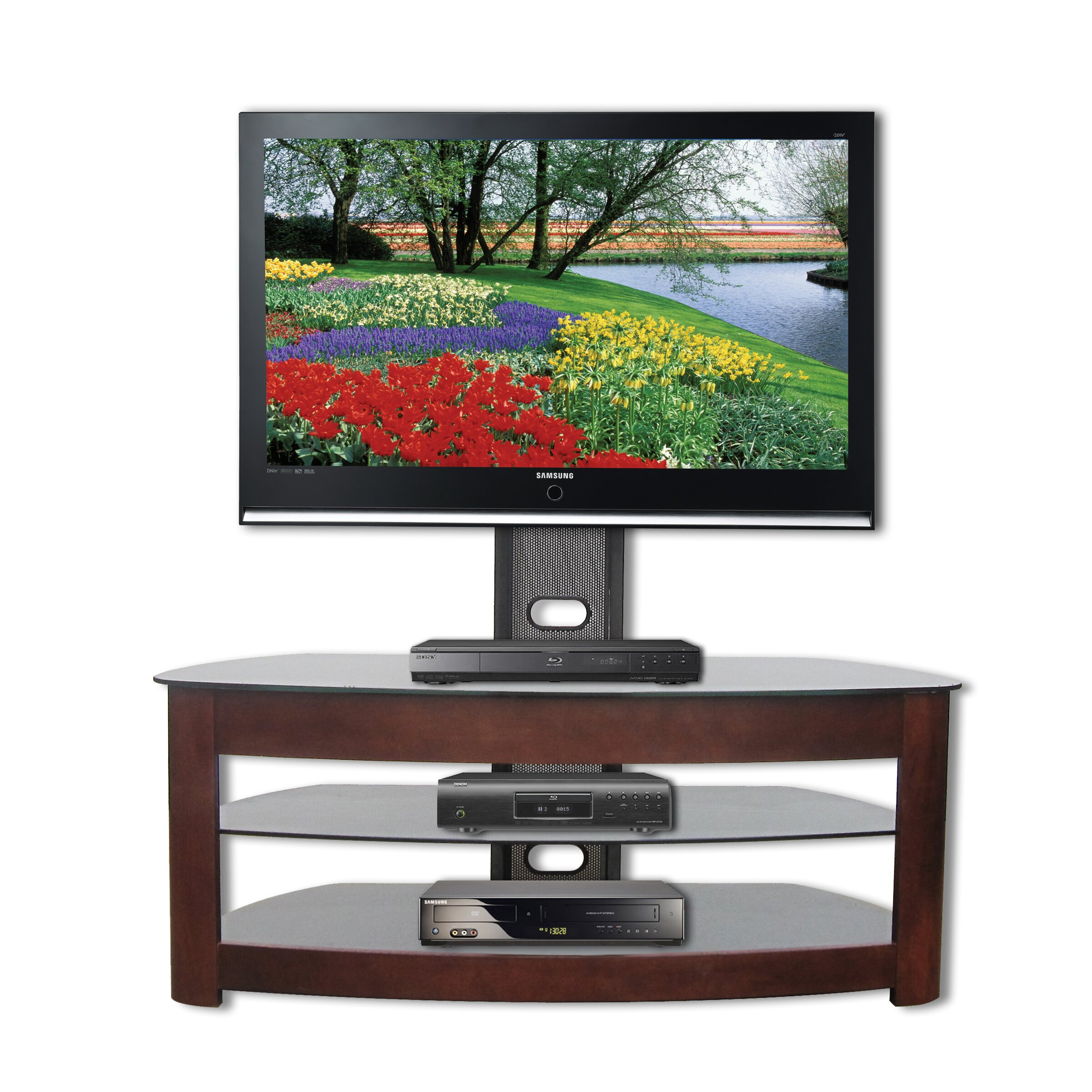 ready set mount palermo universal tv stand reviews. Black Bedroom Furniture Sets. Home Design Ideas