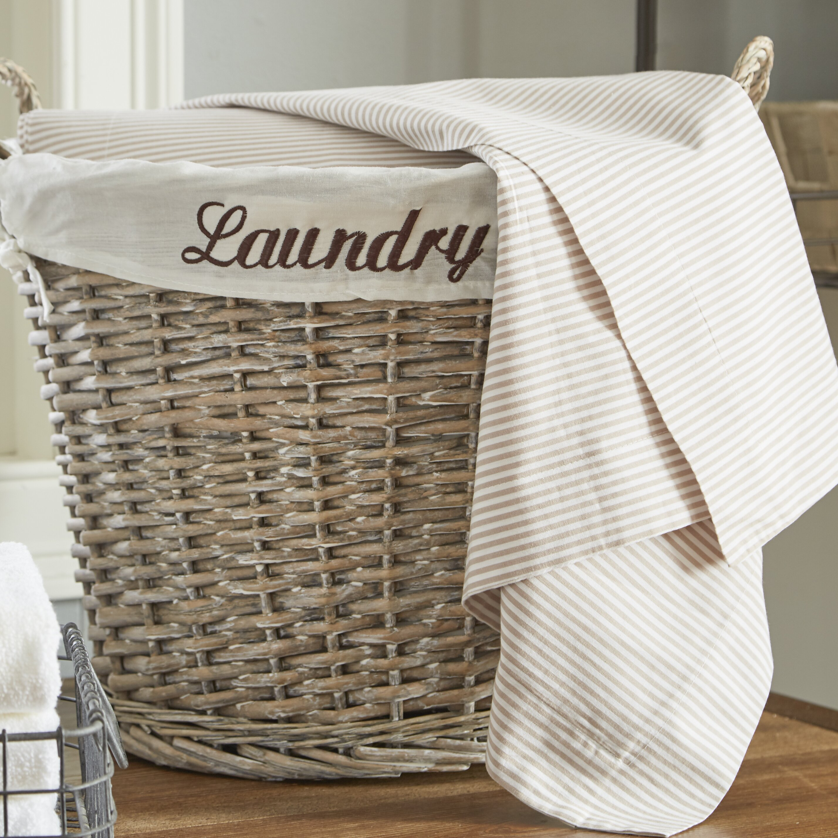 quickway imports wicker laundry basket reviews wayfair. Black Bedroom Furniture Sets. Home Design Ideas
