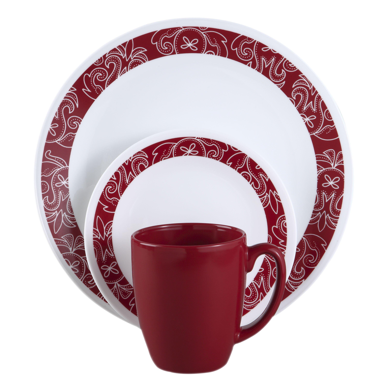 Corelle Corelle Livingware Bandhani 16 Piece Dinnerware Set Reviews