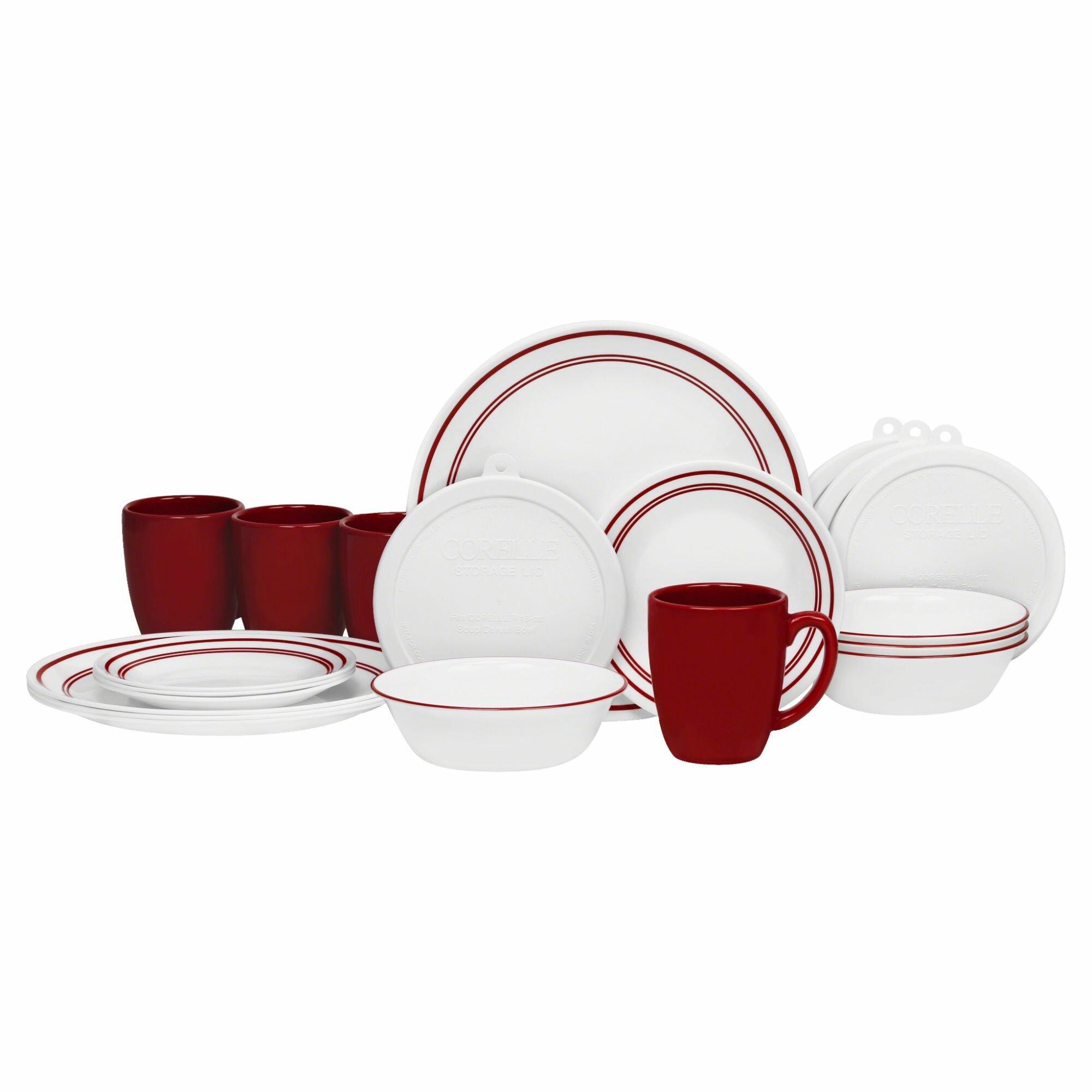 Corelle Livingware Classic Cafe 20 Piece Dinnerware Set Reviews Wayfair